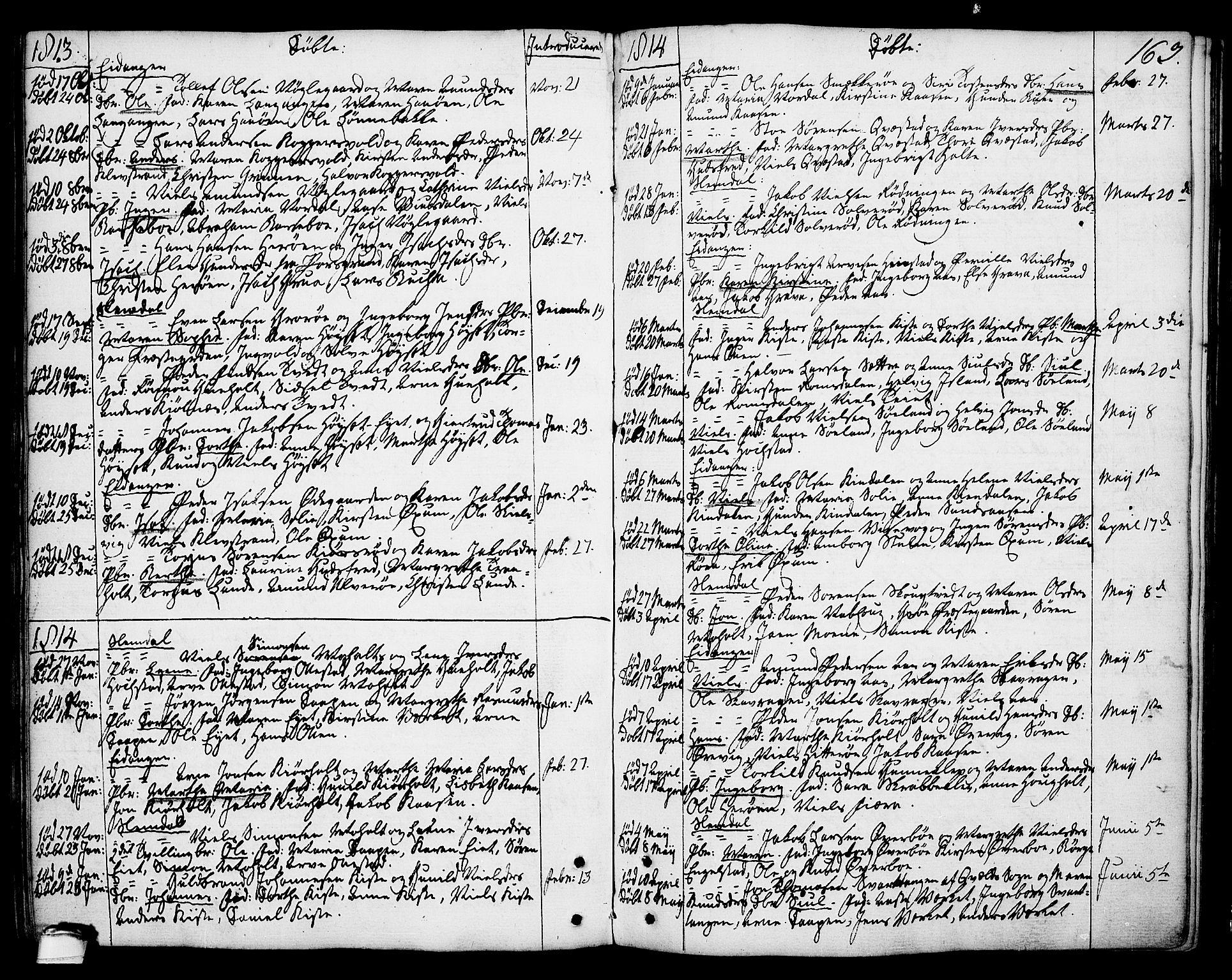 SAKO, Eidanger kirkebøker, F/Fa/L0006: Ministerialbok nr. 6, 1764-1814, s. 163