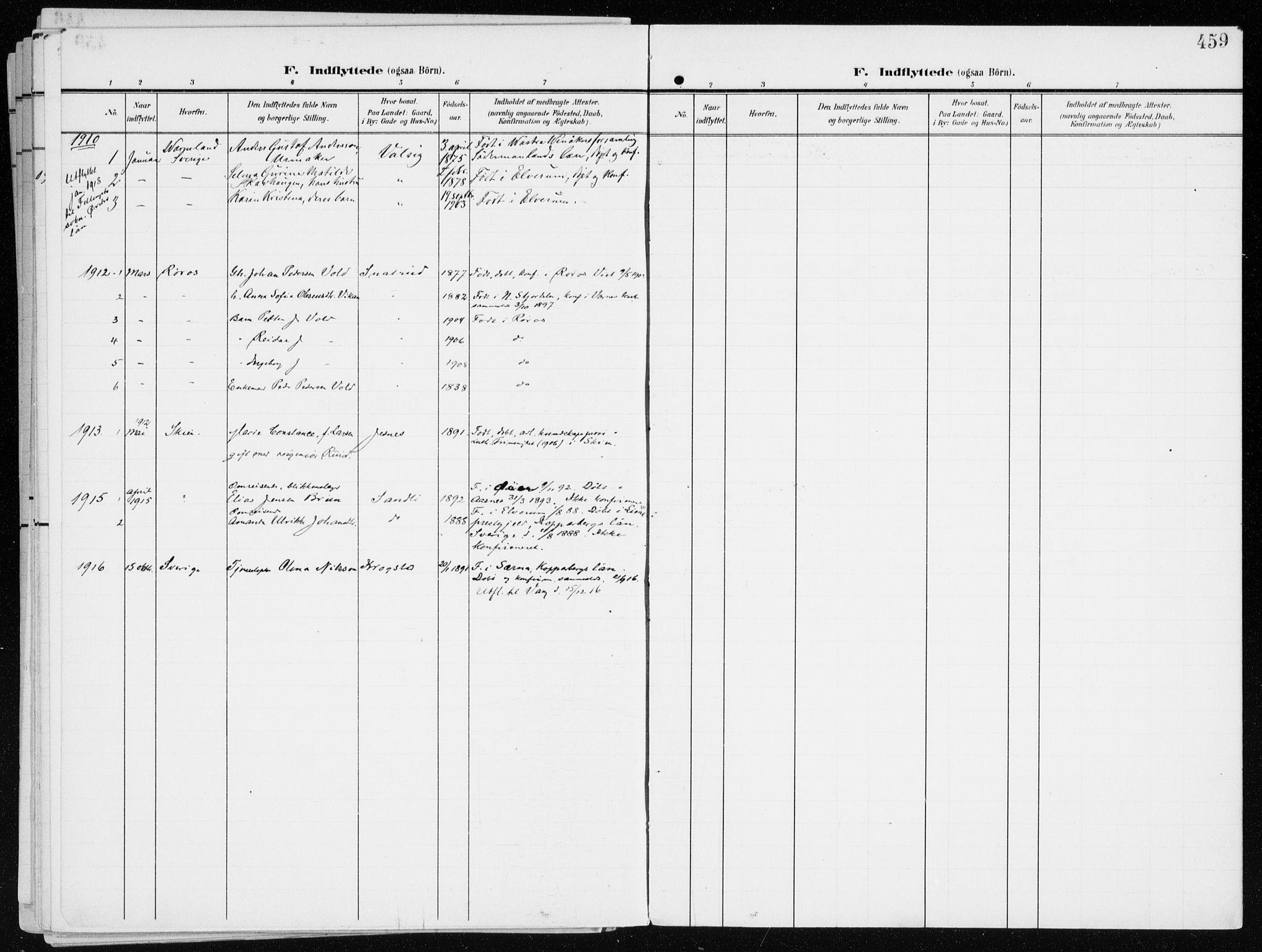 SAH, Furnes prestekontor, K/Ka/L0001: Ministerialbok nr. 1, 1907-1935, s. 459