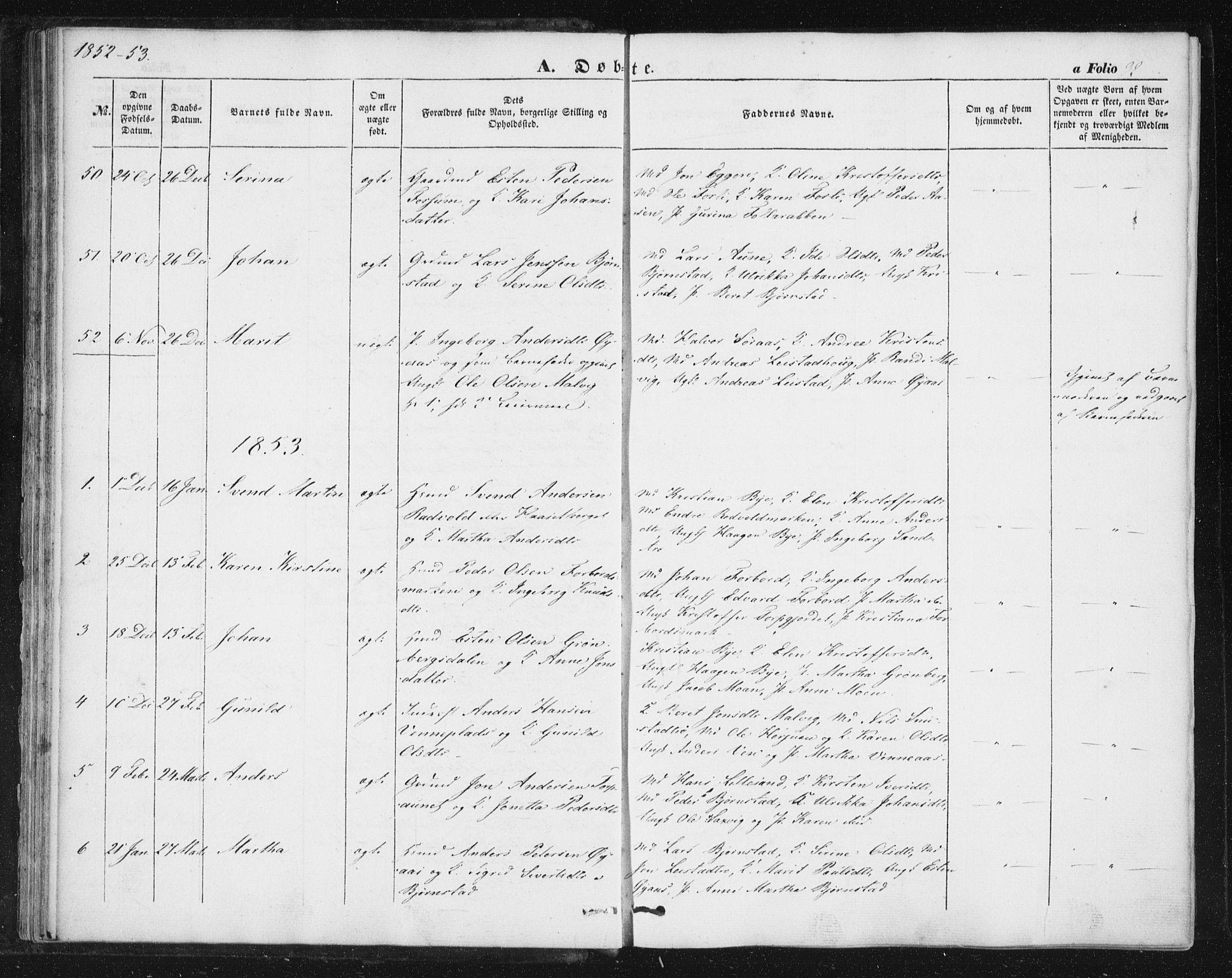 SAT, Ministerialprotokoller, klokkerbøker og fødselsregistre - Sør-Trøndelag, 616/L0407: Ministerialbok nr. 616A04, 1848-1856, s. 32
