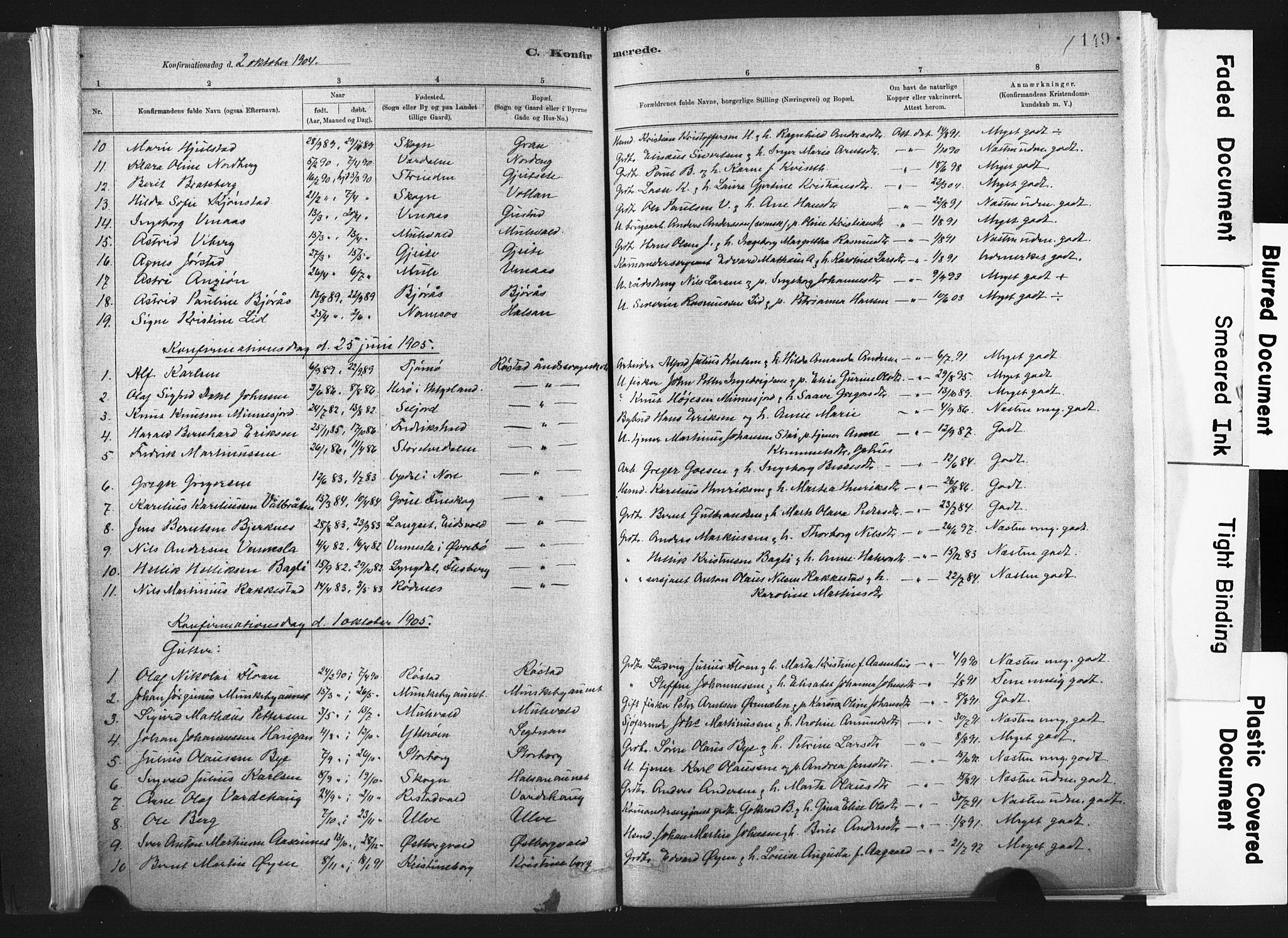 SAT, Ministerialprotokoller, klokkerbøker og fødselsregistre - Nord-Trøndelag, 721/L0207: Ministerialbok nr. 721A02, 1880-1911, s. 149