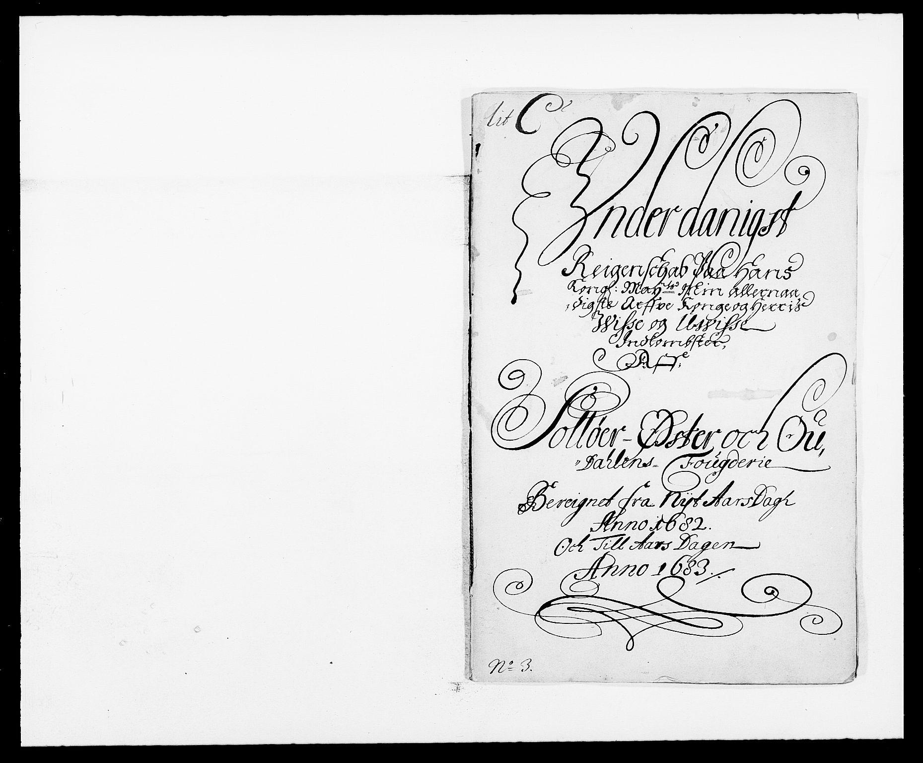 RA, Rentekammeret inntil 1814, Reviderte regnskaper, Fogderegnskap, R13/L0819: Fogderegnskap Solør, Odal og Østerdal, 1682, s. 2