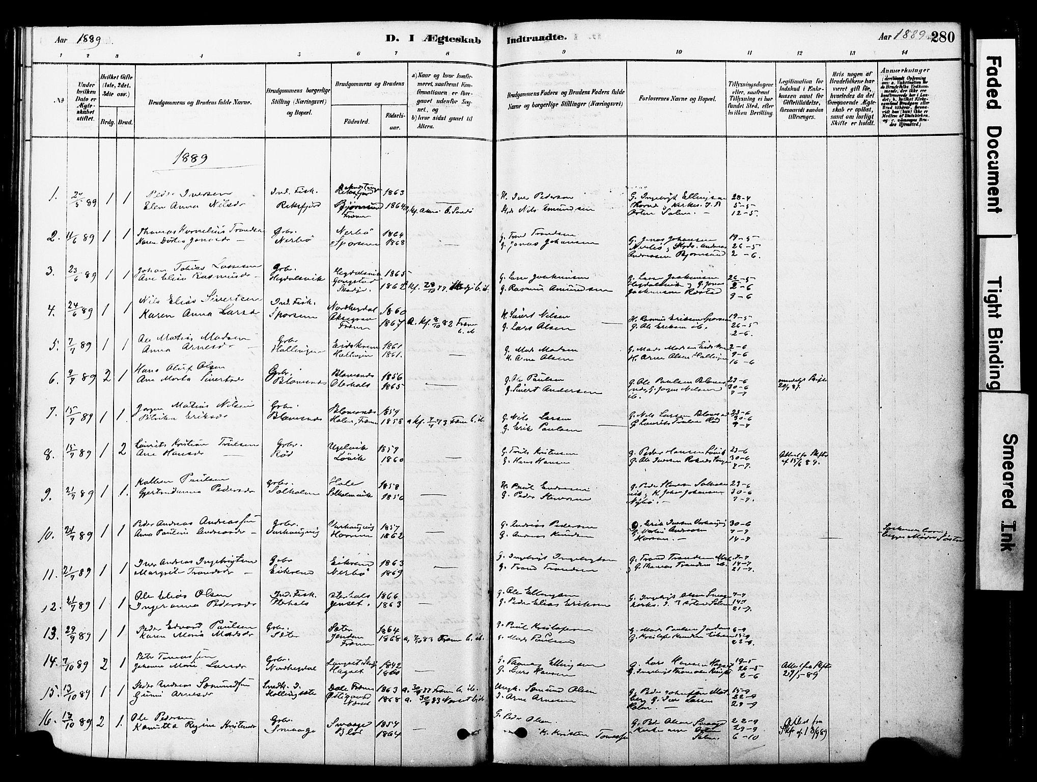 SAT, Ministerialprotokoller, klokkerbøker og fødselsregistre - Møre og Romsdal, 560/L0721: Ministerialbok nr. 560A05, 1878-1917, s. 280