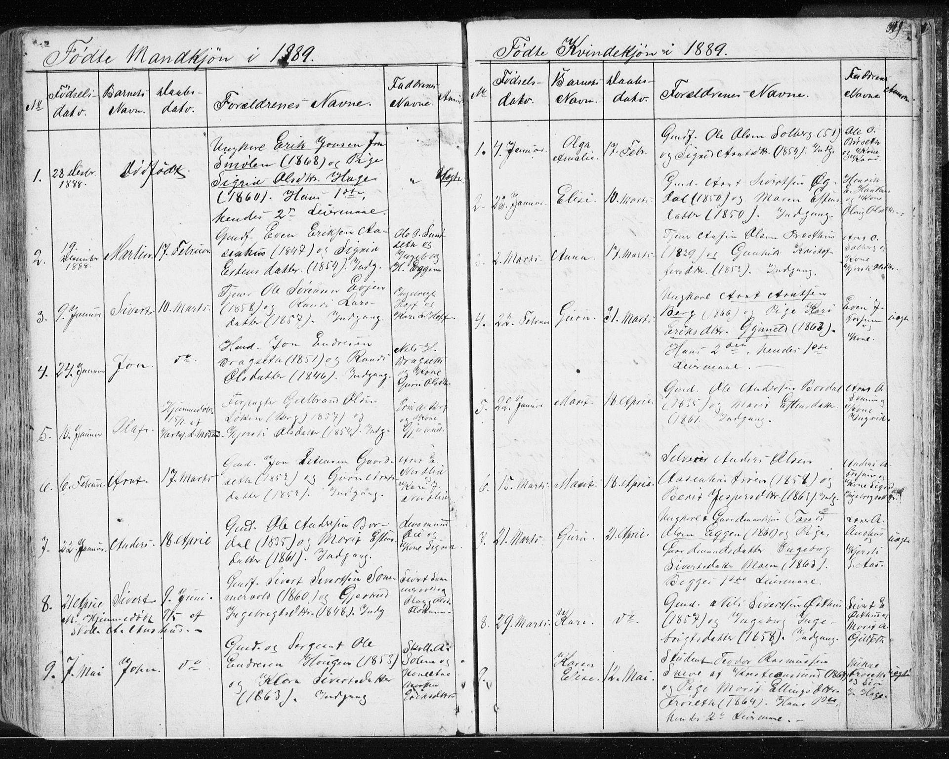 SAT, Ministerialprotokoller, klokkerbøker og fødselsregistre - Sør-Trøndelag, 689/L1043: Klokkerbok nr. 689C02, 1816-1892, s. 349