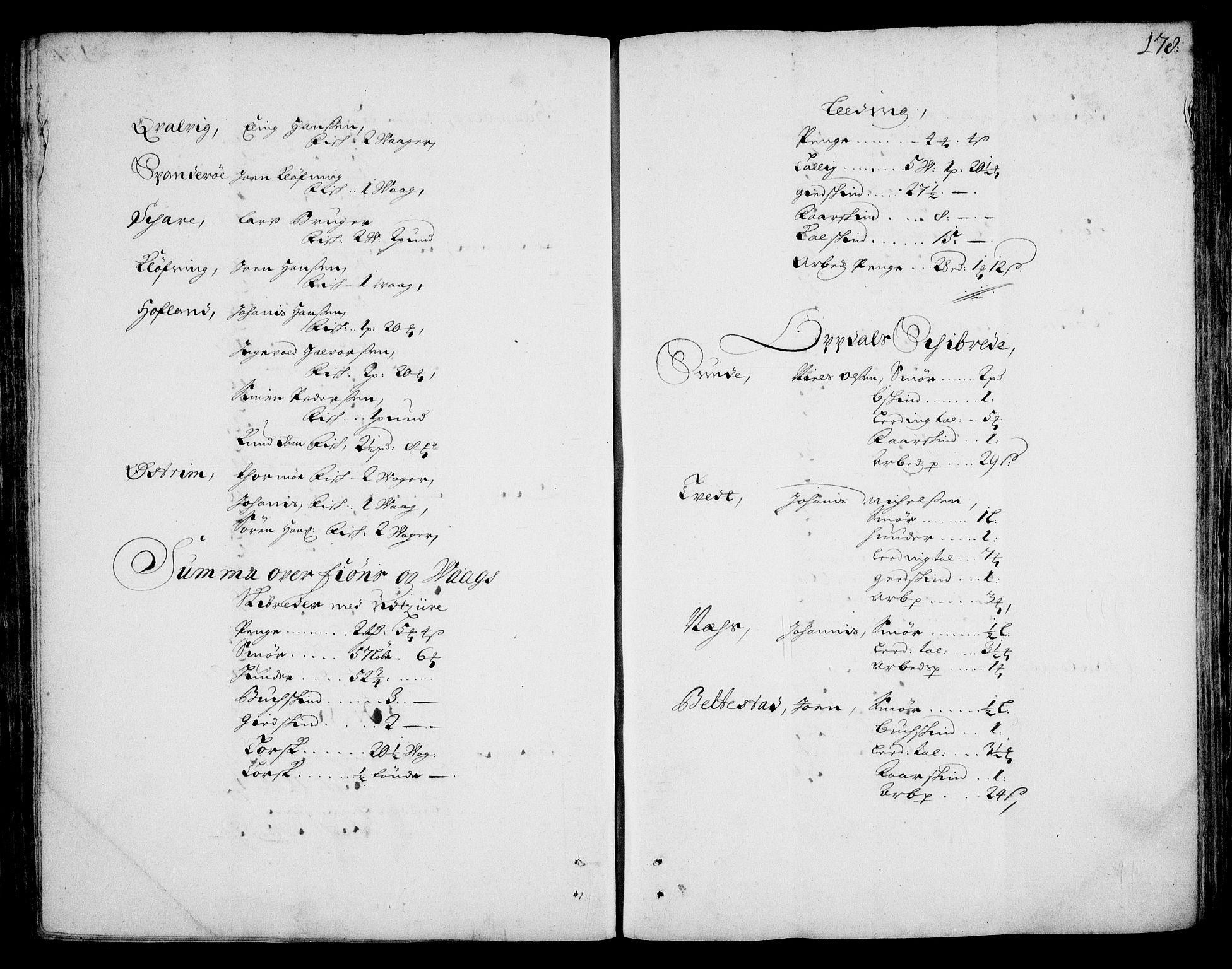 RA, Rentekammeret inntil 1814, Realistisk ordnet avdeling, On/L0002: [Jj 3]: Besiktigelsesforretninger over Halsnøy klosters gods, 1659-1703, s. 177b-178a