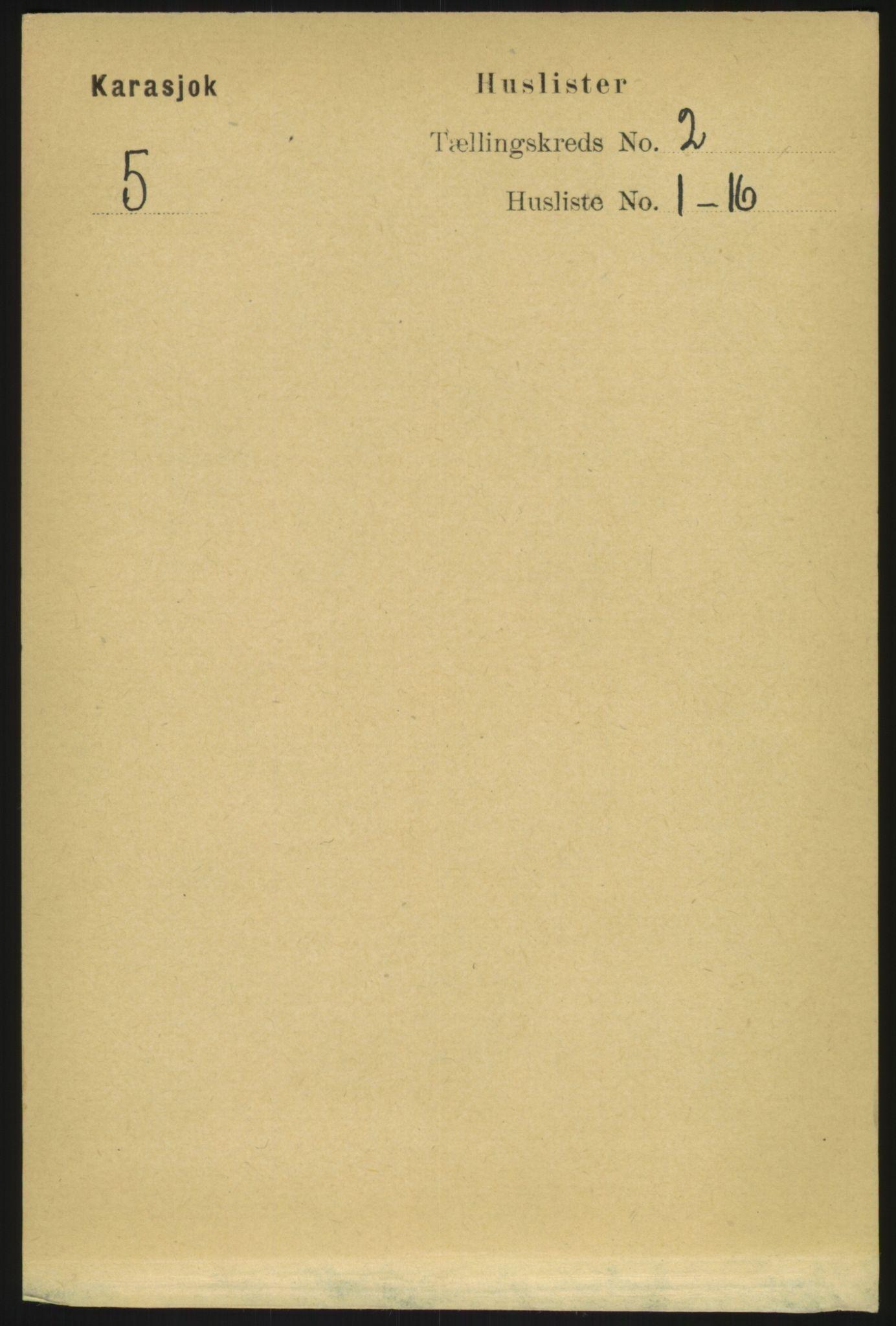RA, Folketelling 1891 for 2021 Karasjok herred, 1891, s. 417