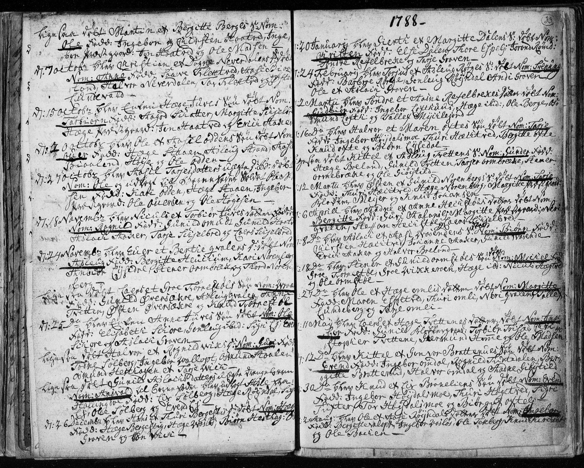 SAKO, Lårdal kirkebøker, F/Fa/L0003: Ministerialbok nr. I 3, 1754-1790, s. 33