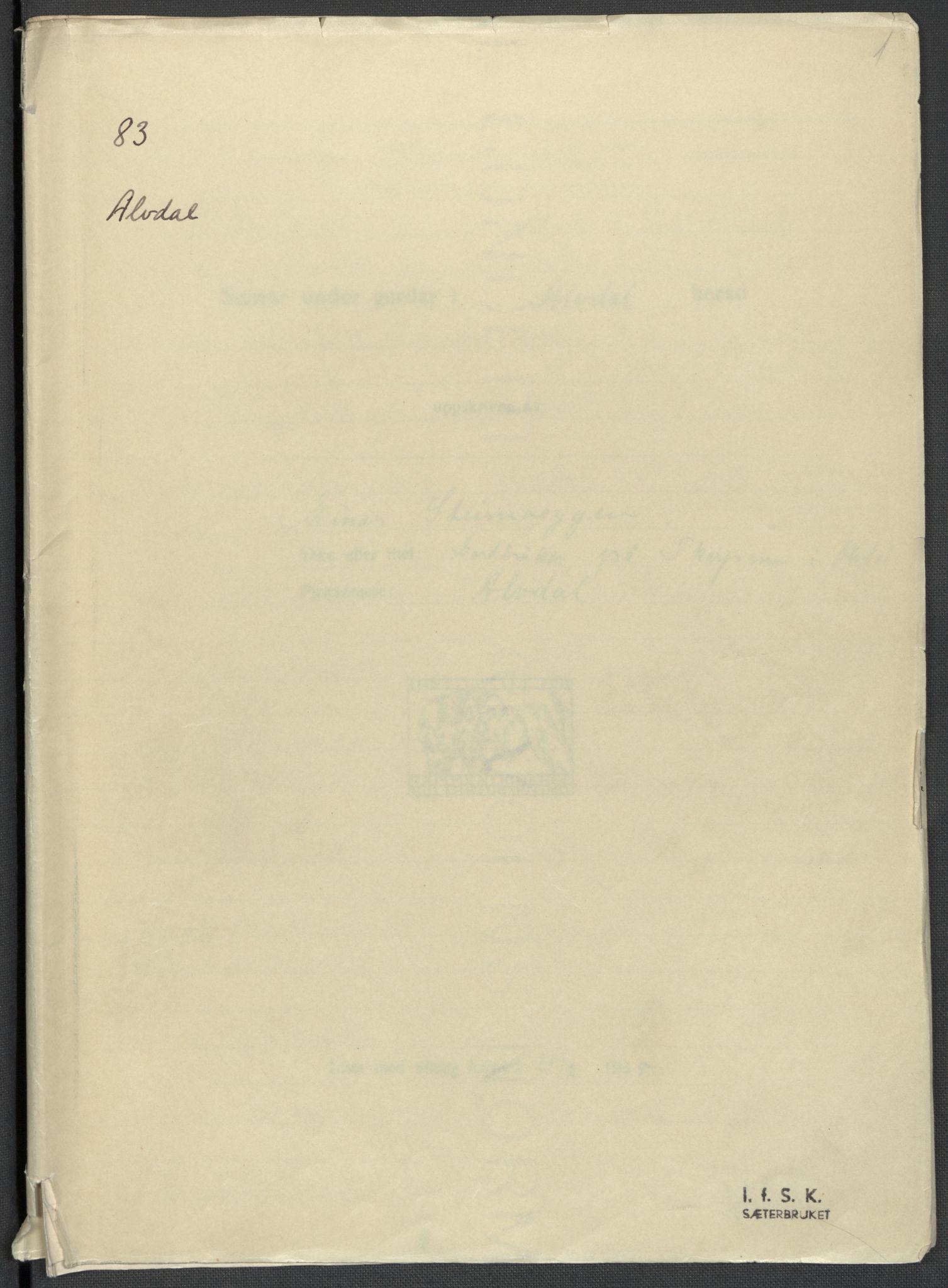 RA, Instituttet for sammenlignende kulturforskning, F/Fc/L0003: Eske B3:, 1933-1939, s. 1