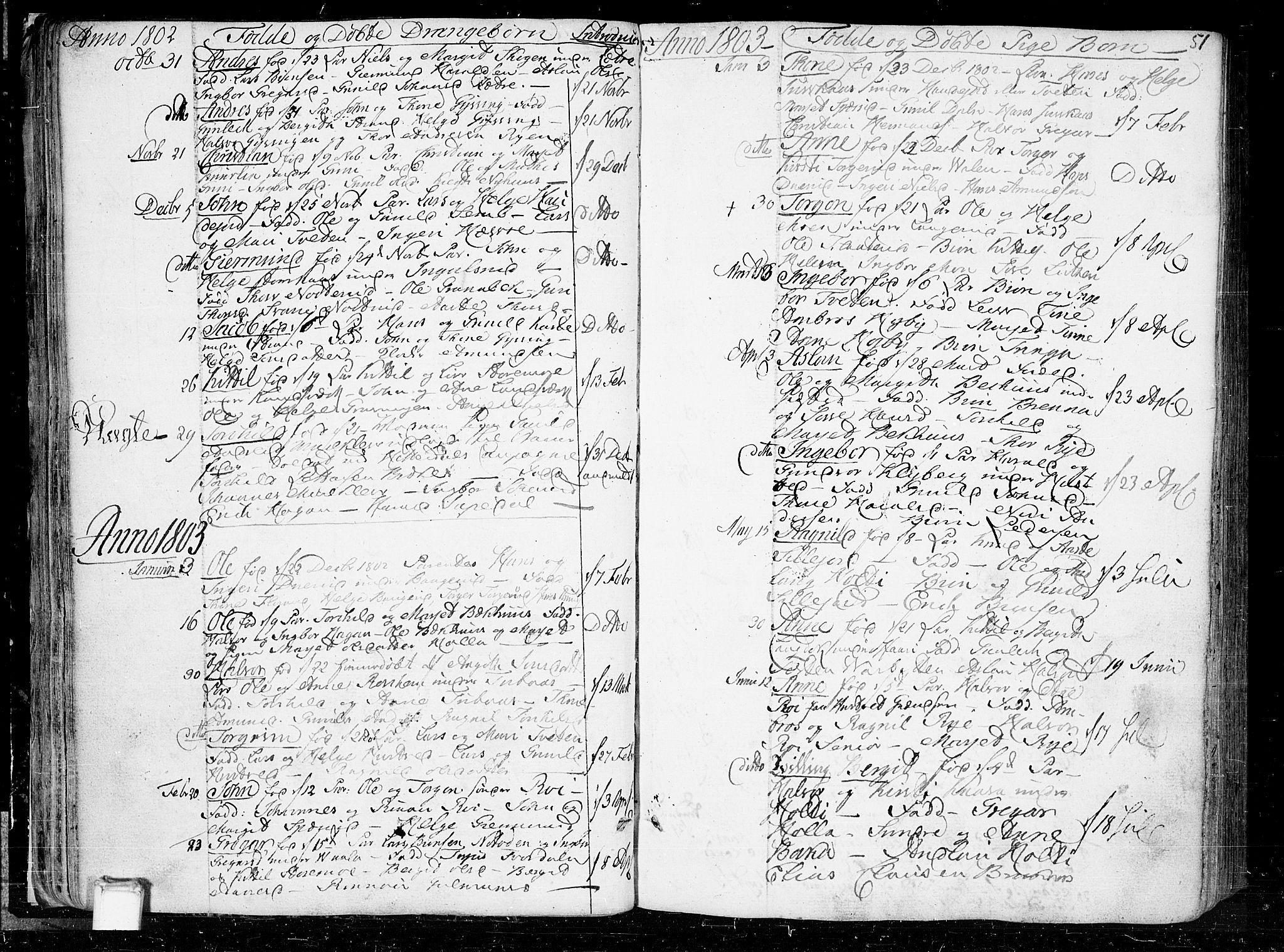 SAKO, Heddal kirkebøker, F/Fa/L0004: Ministerialbok nr. I 4, 1784-1814, s. 51