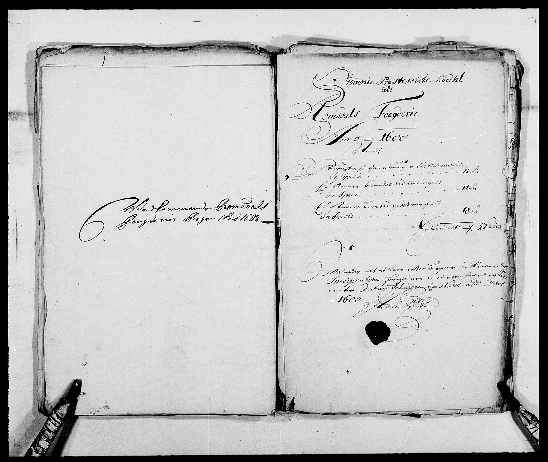 RA, Rentekammeret inntil 1814, Reviderte regnskaper, Fogderegnskap, R55/L3648: Fogderegnskap Romsdal, 1687-1689, s. 289