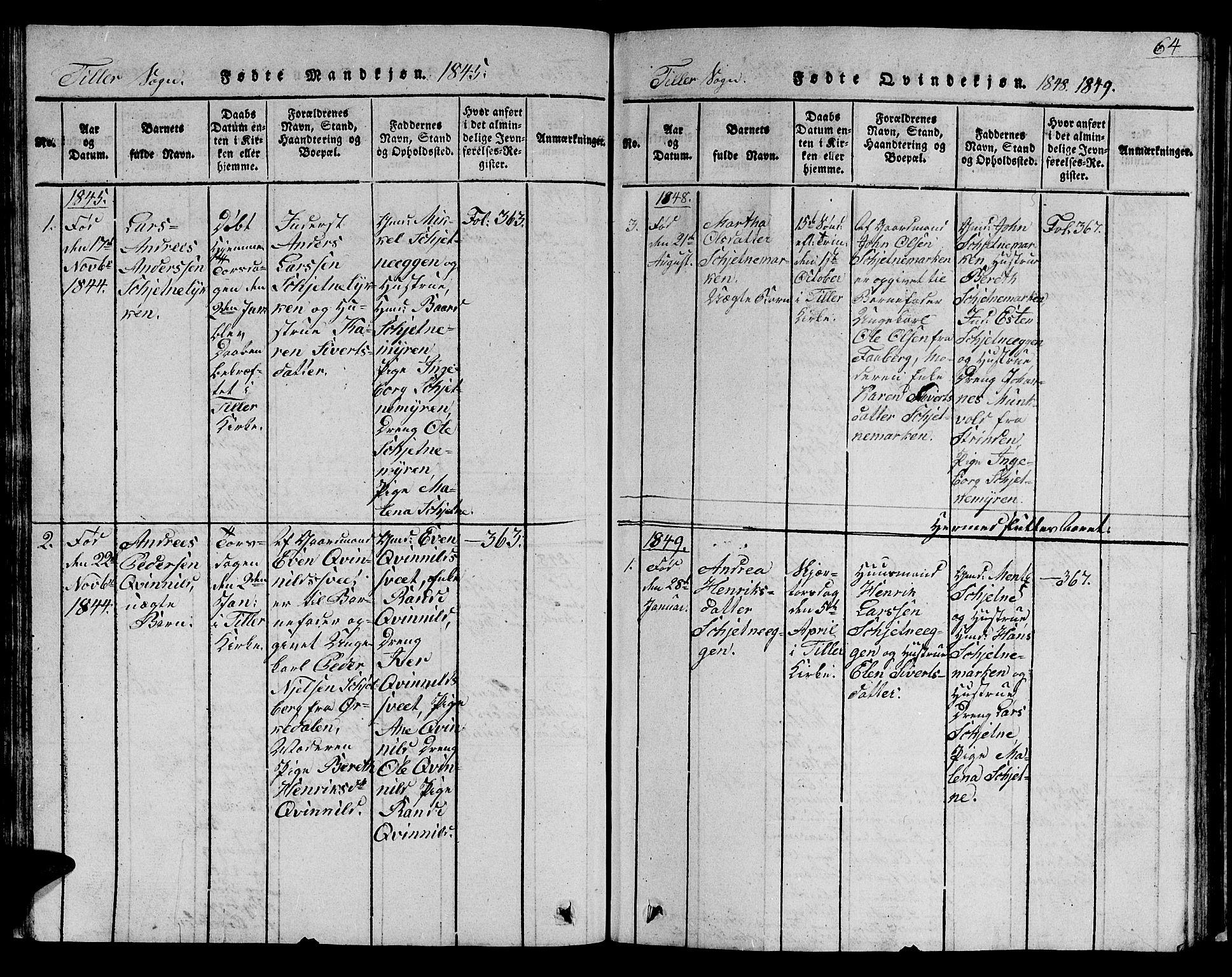 SAT, Ministerialprotokoller, klokkerbøker og fødselsregistre - Sør-Trøndelag, 621/L0458: Klokkerbok nr. 621C01, 1816-1865, s. 64