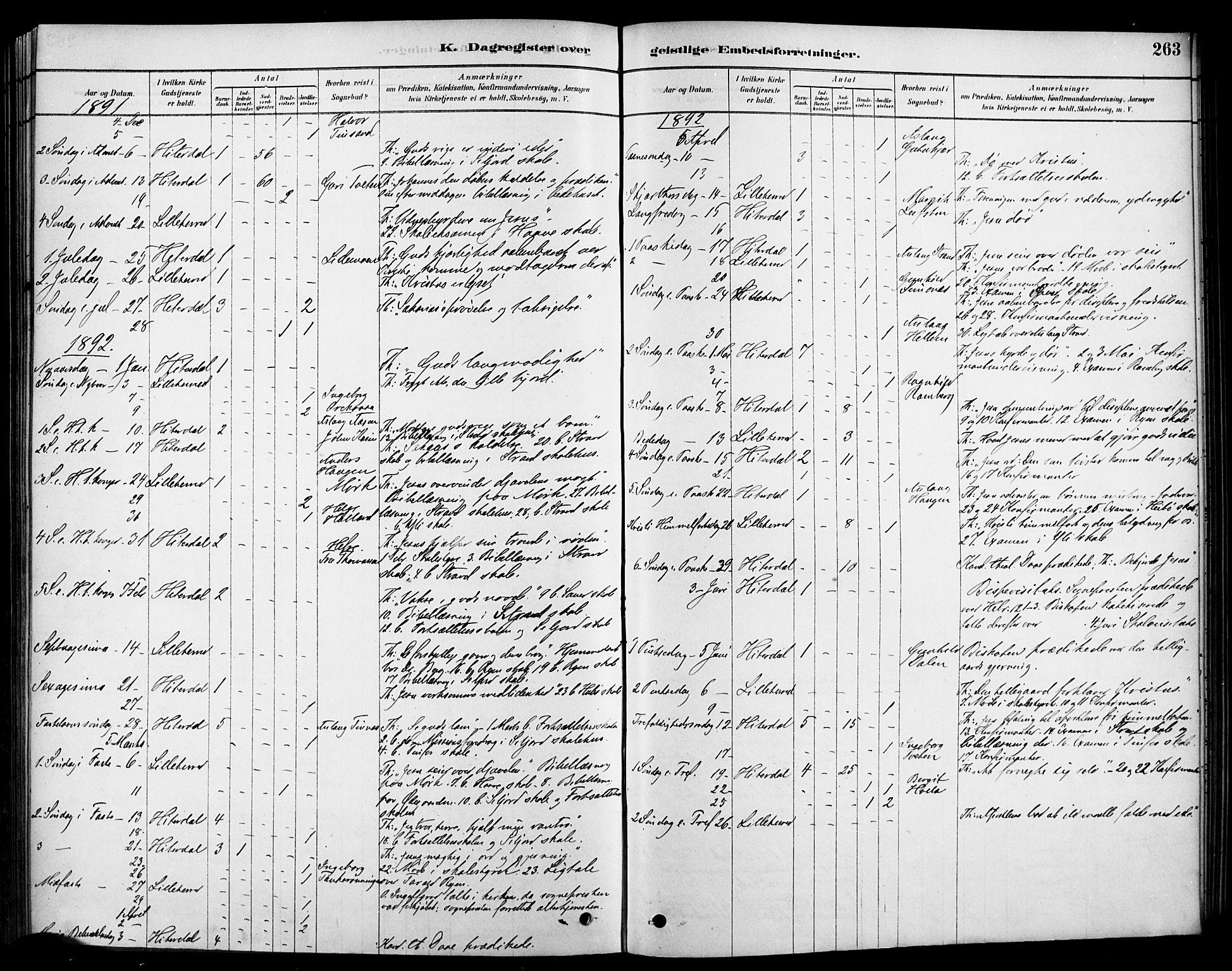 SAKO, Heddal kirkebøker, F/Fa/L0009: Ministerialbok nr. I 9, 1878-1903, s. 263