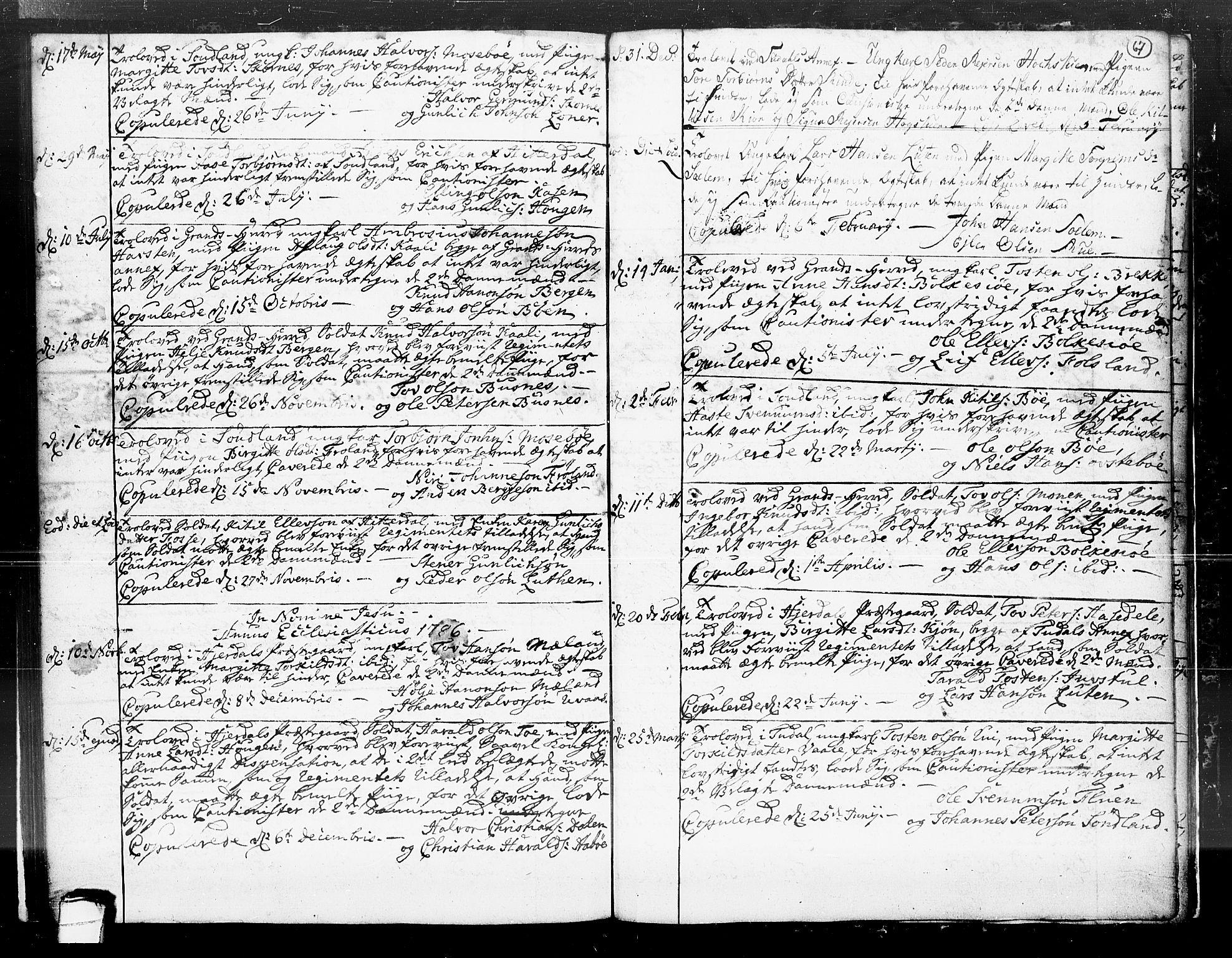SAKO, Hjartdal kirkebøker, F/Fa/L0004: Ministerialbok nr. I 4, 1727-1795, s. 67
