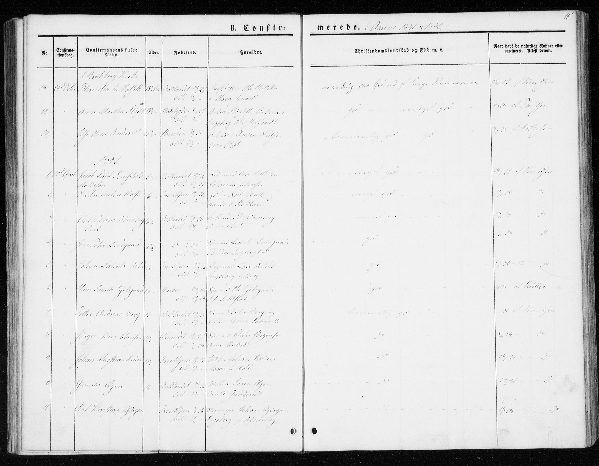 SAT, Ministerialprotokoller, klokkerbøker og fødselsregistre - Sør-Trøndelag, 604/L0183: Ministerialbok nr. 604A04, 1841-1850, s. 75