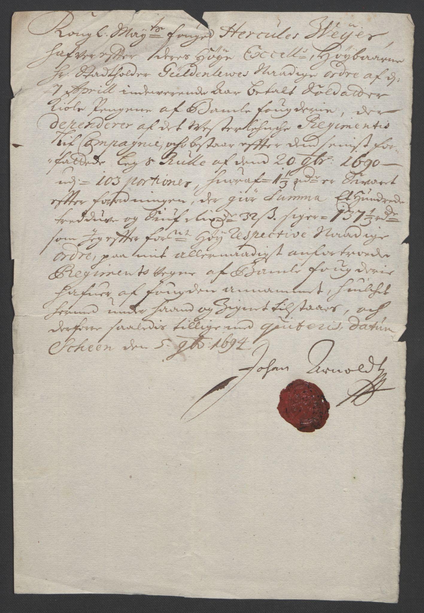 RA, Rentekammeret inntil 1814, Reviderte regnskaper, Fogderegnskap, R36/L2092: Fogderegnskap Øvre og Nedre Telemark og Bamble, 1694, s. 270