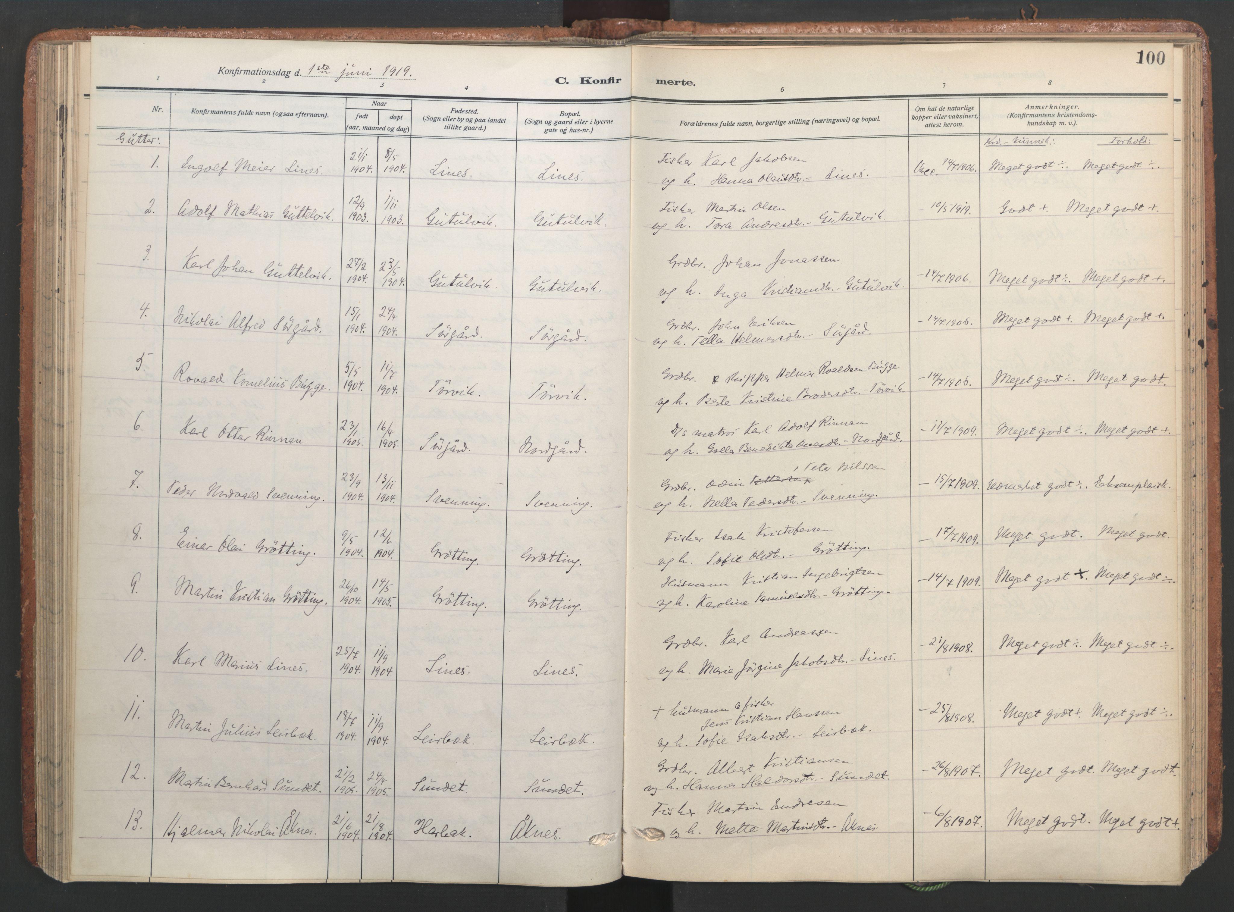 SAT, Ministerialprotokoller, klokkerbøker og fødselsregistre - Sør-Trøndelag, 656/L0694: Ministerialbok nr. 656A03, 1914-1931, s. 100