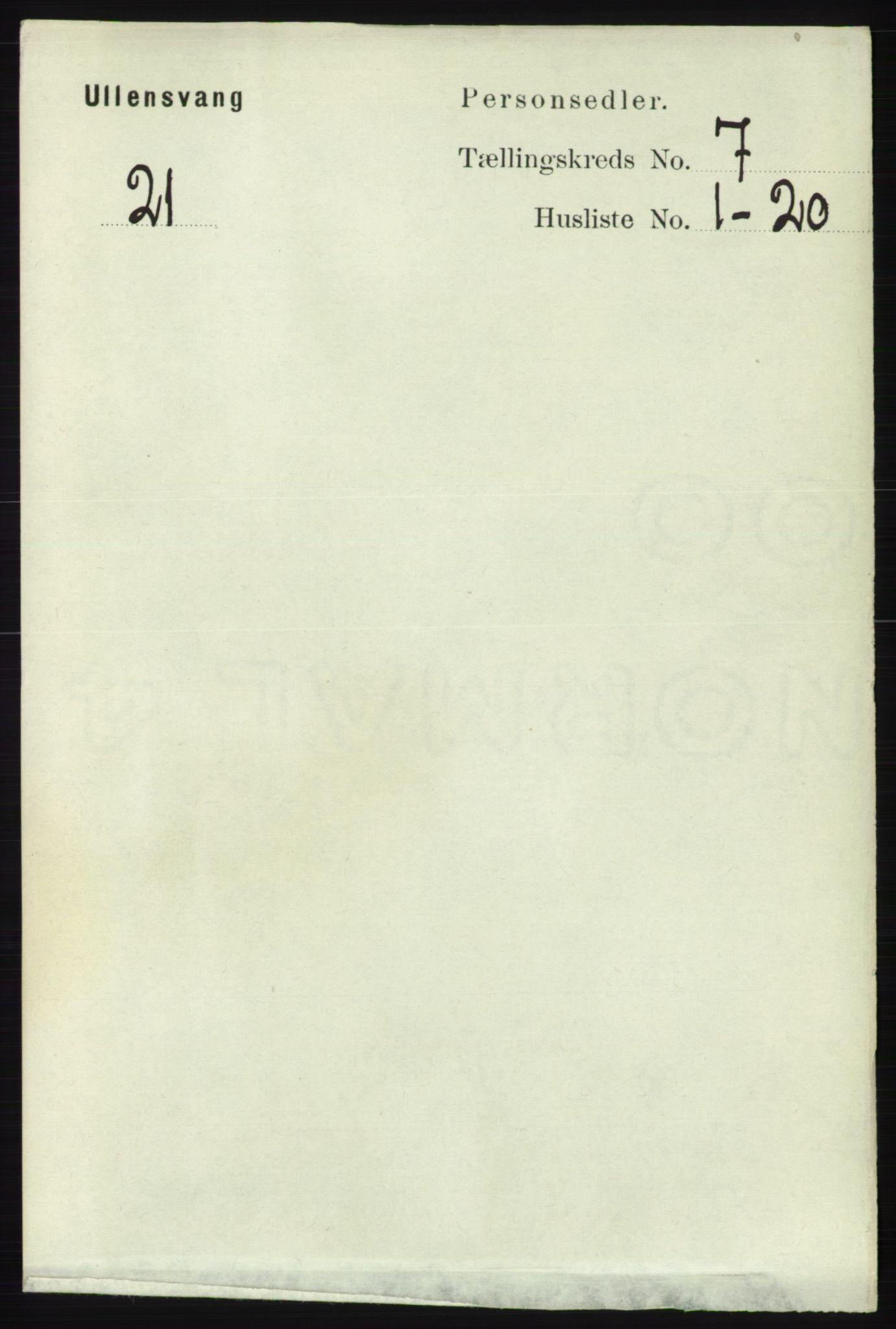 RA, Folketelling 1891 for 1230 Ullensvang herred, 1891, s. 2352