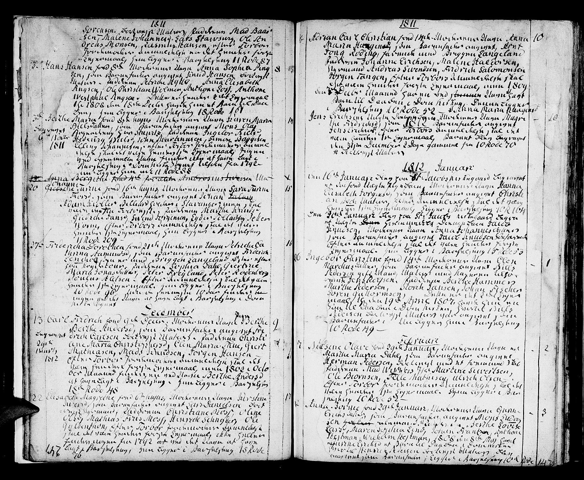 SAB, Domkirken Sokneprestembete, H/Haa/L0005: Ministerialbok nr. A 5, 1808-1820, s. 246-247
