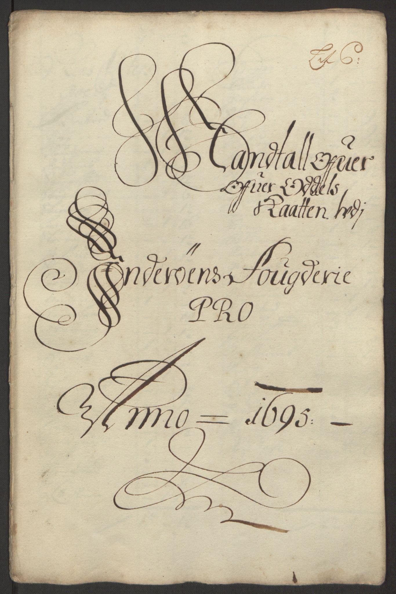 RA, Rentekammeret inntil 1814, Reviderte regnskaper, Fogderegnskap, R63/L4309: Fogderegnskap Inderøy, 1695-1697, s. 23