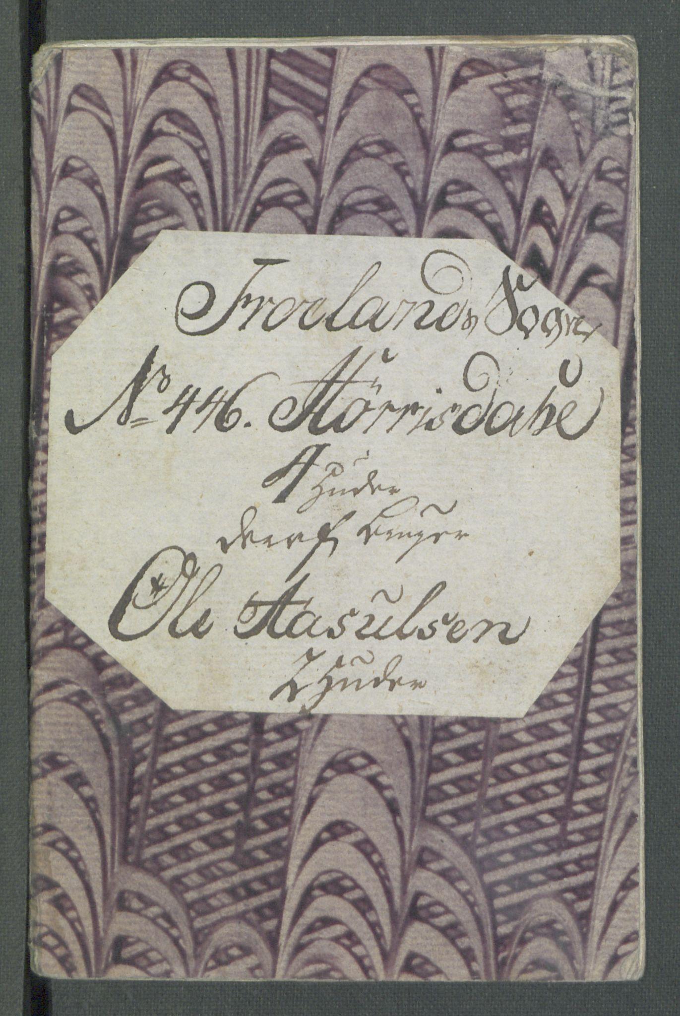 RA, Rentekammeret inntil 1814, Realistisk ordnet avdeling, Od/L0001: Oppløp, 1786-1769, s. 800