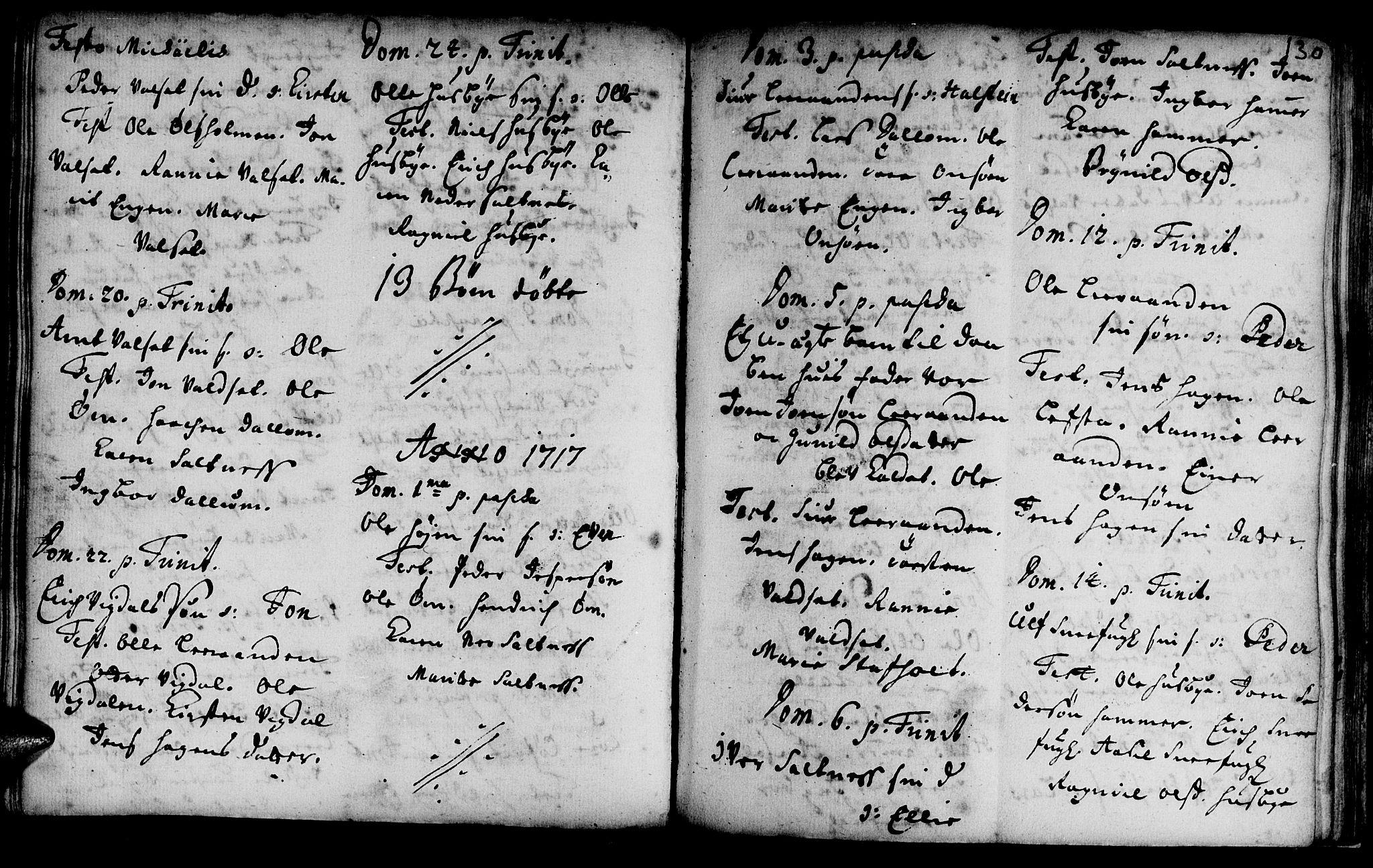 SAT, Ministerialprotokoller, klokkerbøker og fødselsregistre - Sør-Trøndelag, 666/L0783: Ministerialbok nr. 666A01, 1702-1753, s. 130