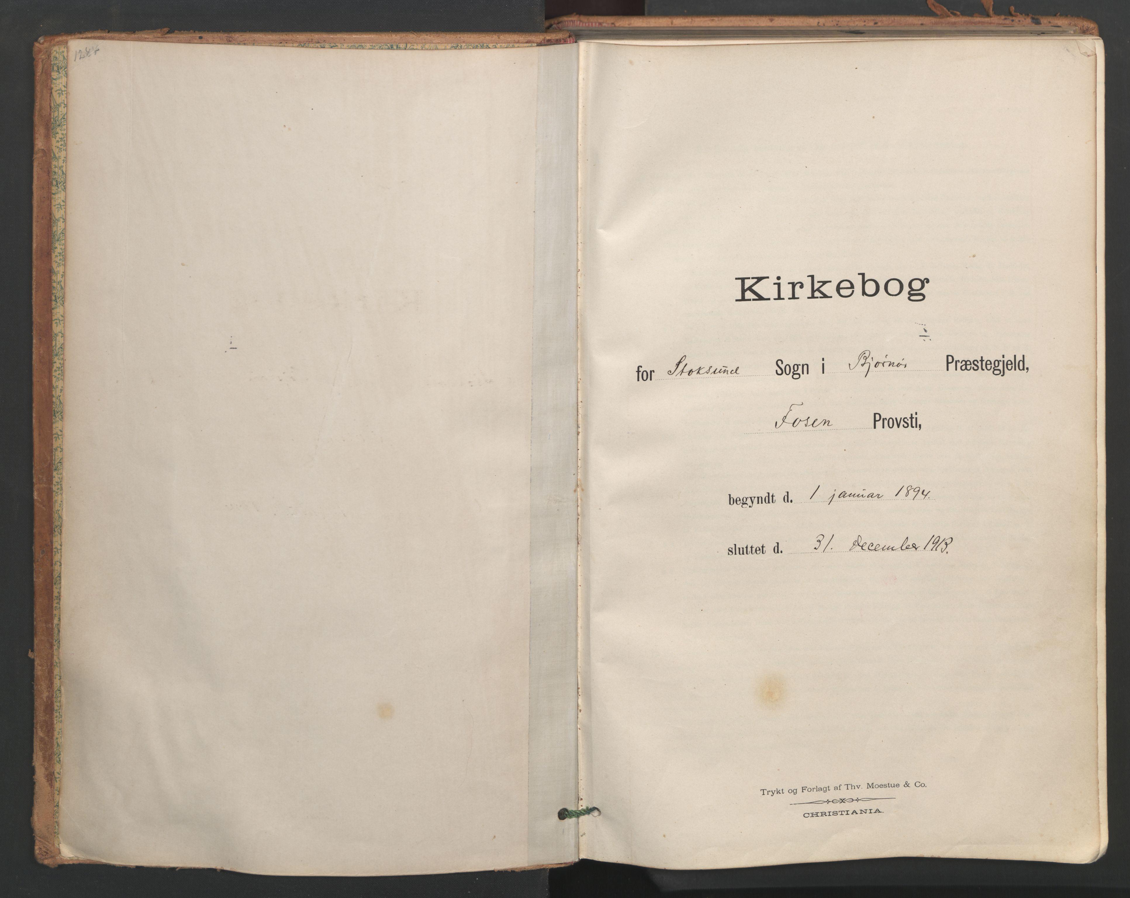 SAT, Ministerialprotokoller, klokkerbøker og fødselsregistre - Sør-Trøndelag, 656/L0693: Ministerialbok nr. 656A02, 1894-1913