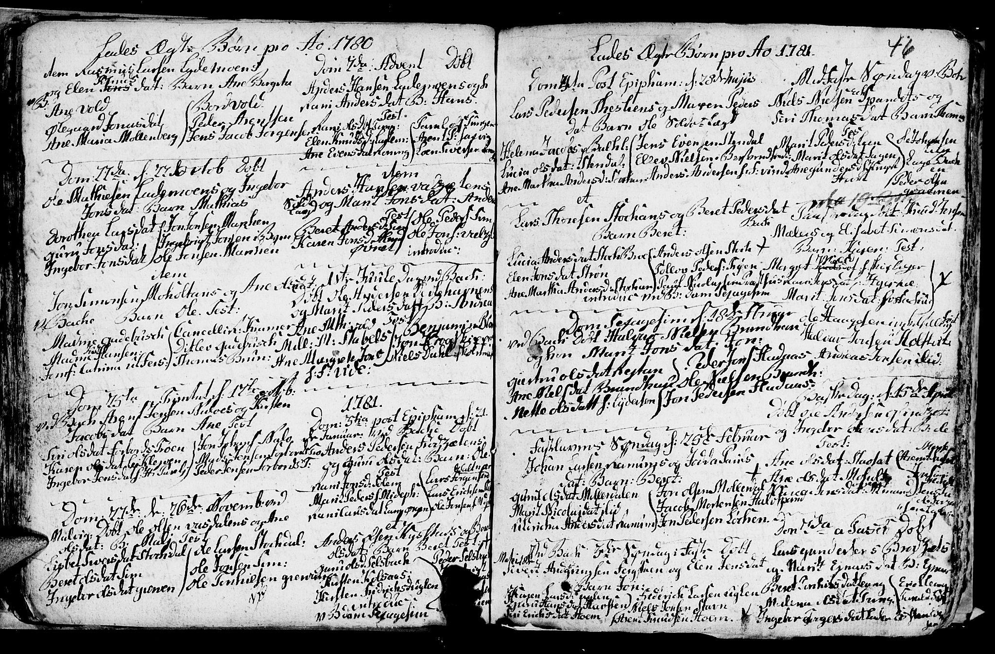 SAT, Ministerialprotokoller, klokkerbøker og fødselsregistre - Sør-Trøndelag, 606/L0305: Klokkerbok nr. 606C01, 1757-1819, s. 46