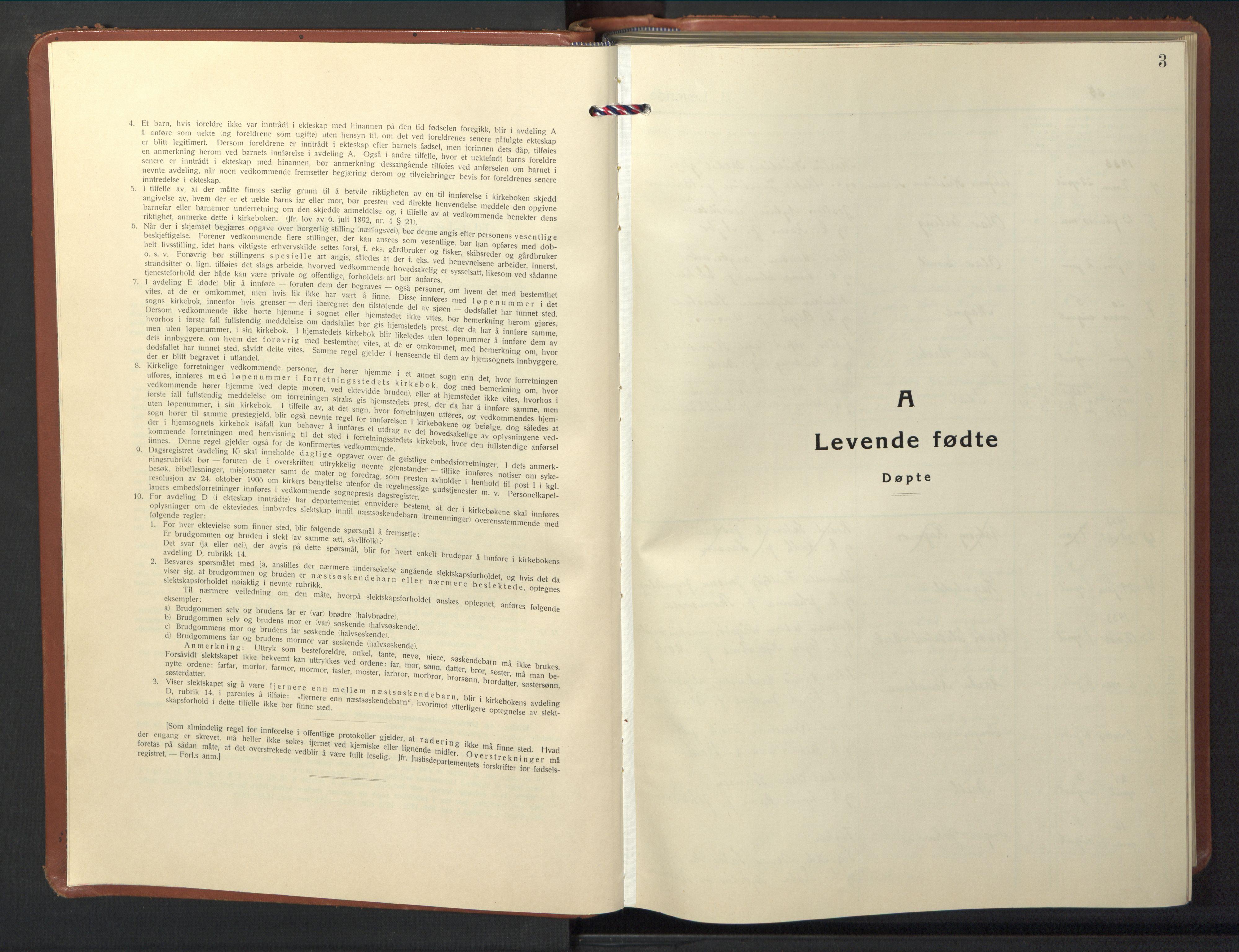 SAT, Ministerialprotokoller, klokkerbøker og fødselsregistre - Nord-Trøndelag, 774/L0631: Klokkerbok nr. 774C02, 1934-1950, s. 3