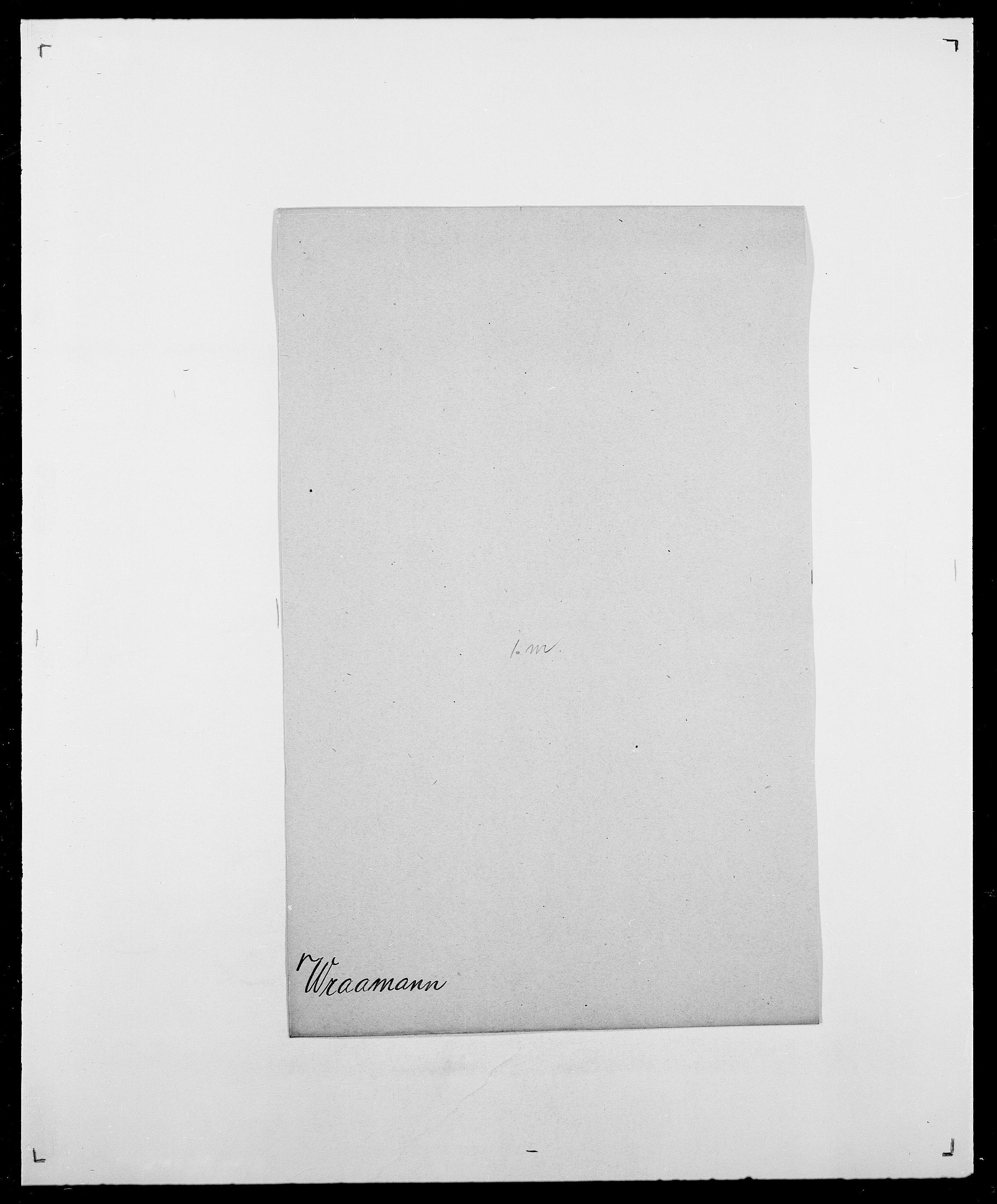 SAO, Delgobe, Charles Antoine - samling, D/Da/L0042: Vilain - Wulf, Wulff, se også Wolf, s. 722