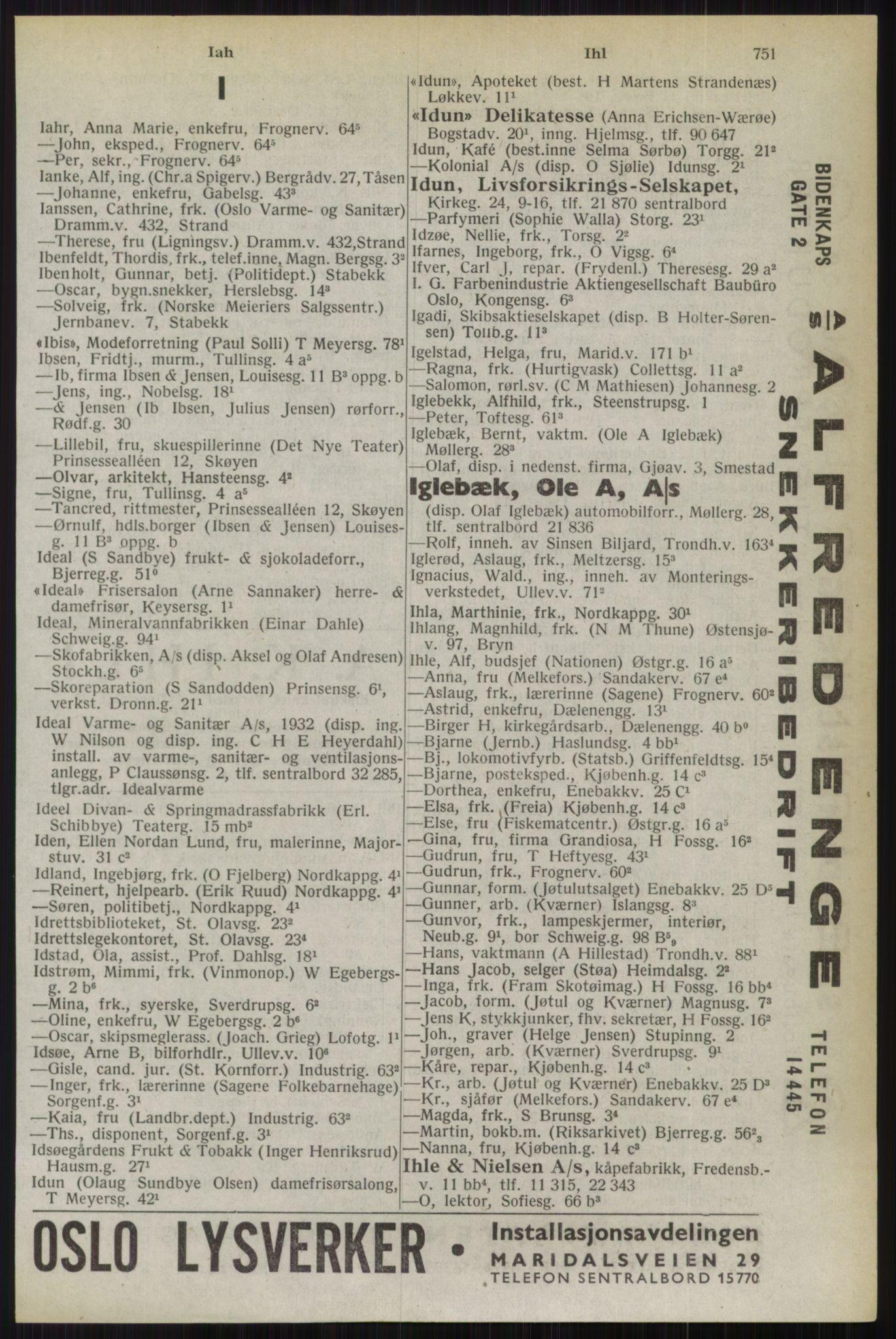RA, Oslo adressebok (publikasjon)*, 1944, s. 751
