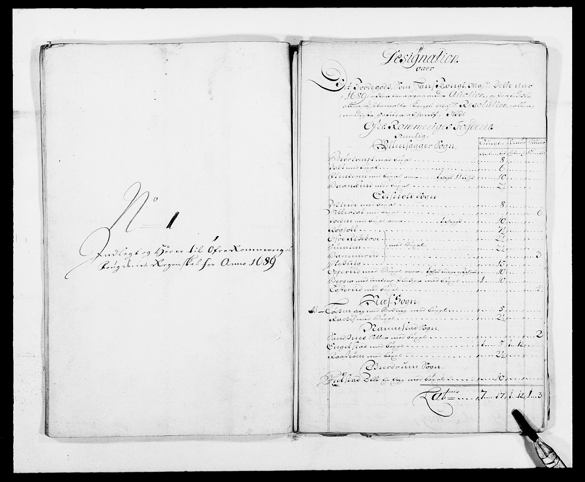 RA, Rentekammeret inntil 1814, Reviderte regnskaper, Fogderegnskap, R12/L0701: Fogderegnskap Øvre Romerike, 1689, s. 247