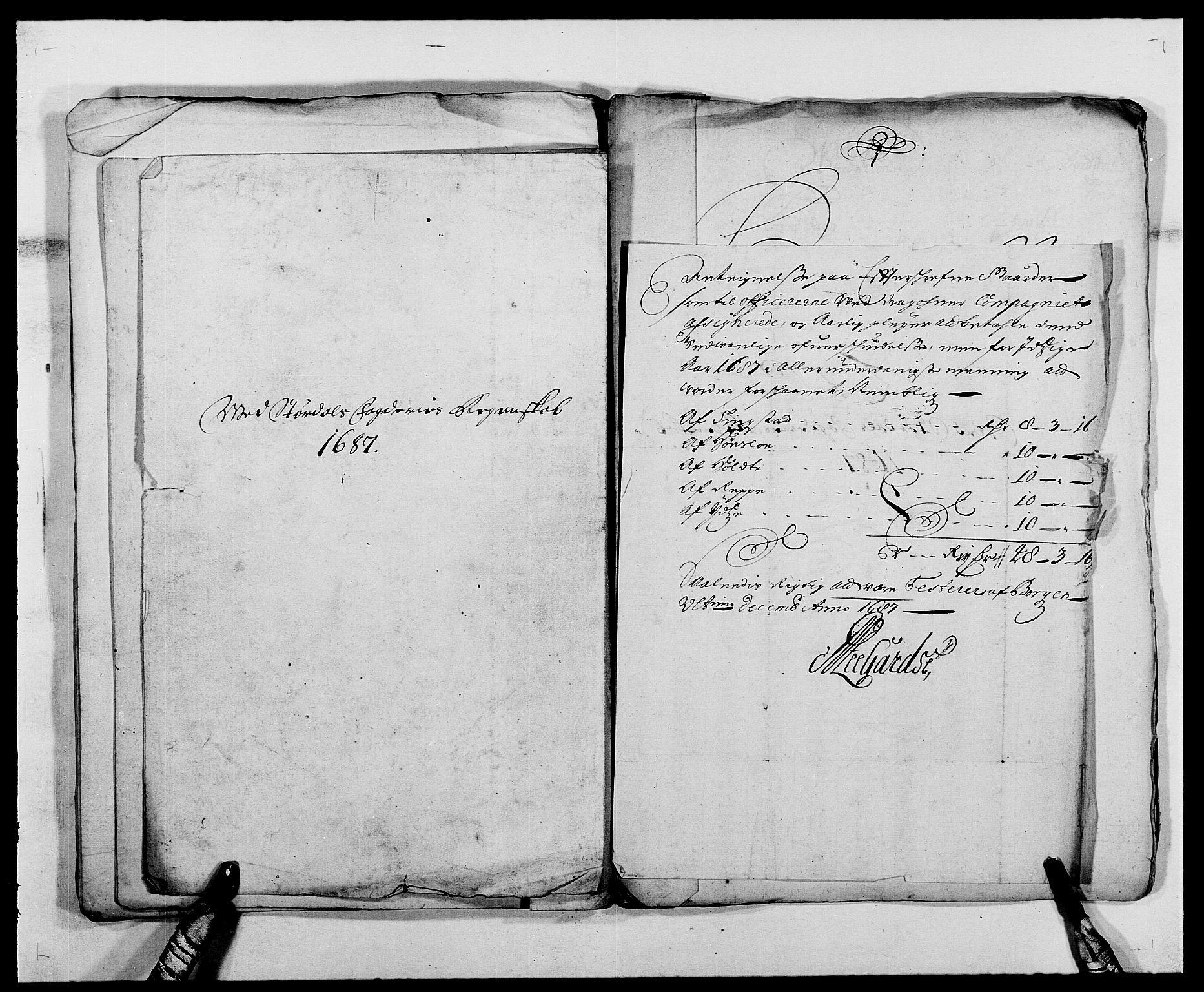 RA, Rentekammeret inntil 1814, Reviderte regnskaper, Fogderegnskap, R62/L4183: Fogderegnskap Stjørdal og Verdal, 1687-1689, s. 43