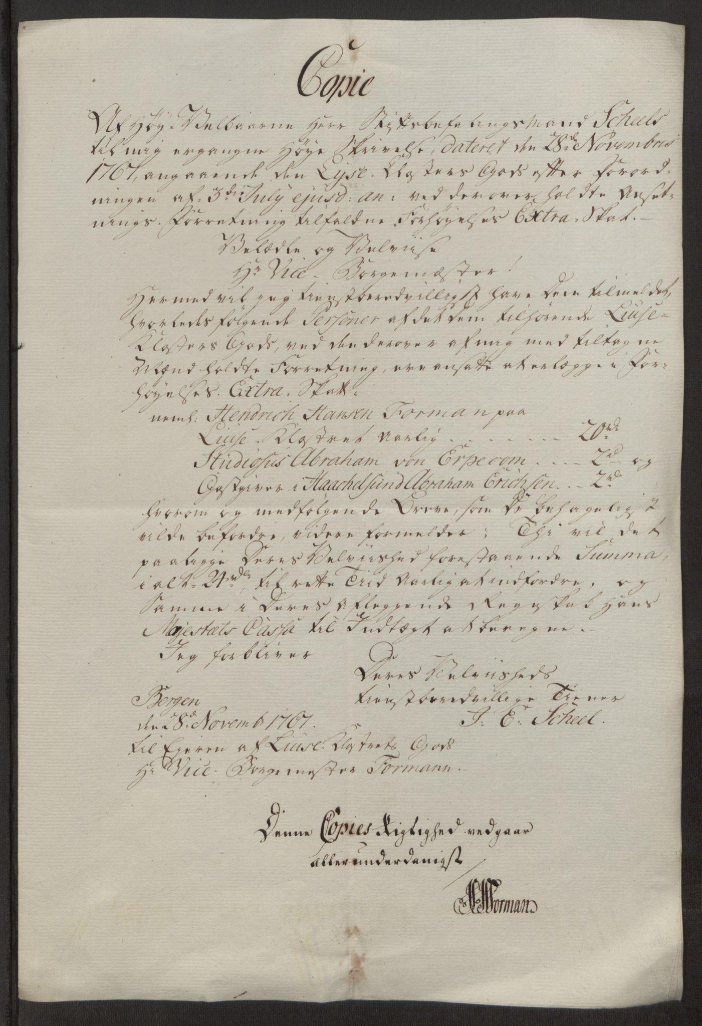 RA, Rentekammeret inntil 1814, Reviderte regnskaper, Fogderegnskap, R50/L3180: Ekstraskatten Lyse kloster, 1762-1783, s. 257