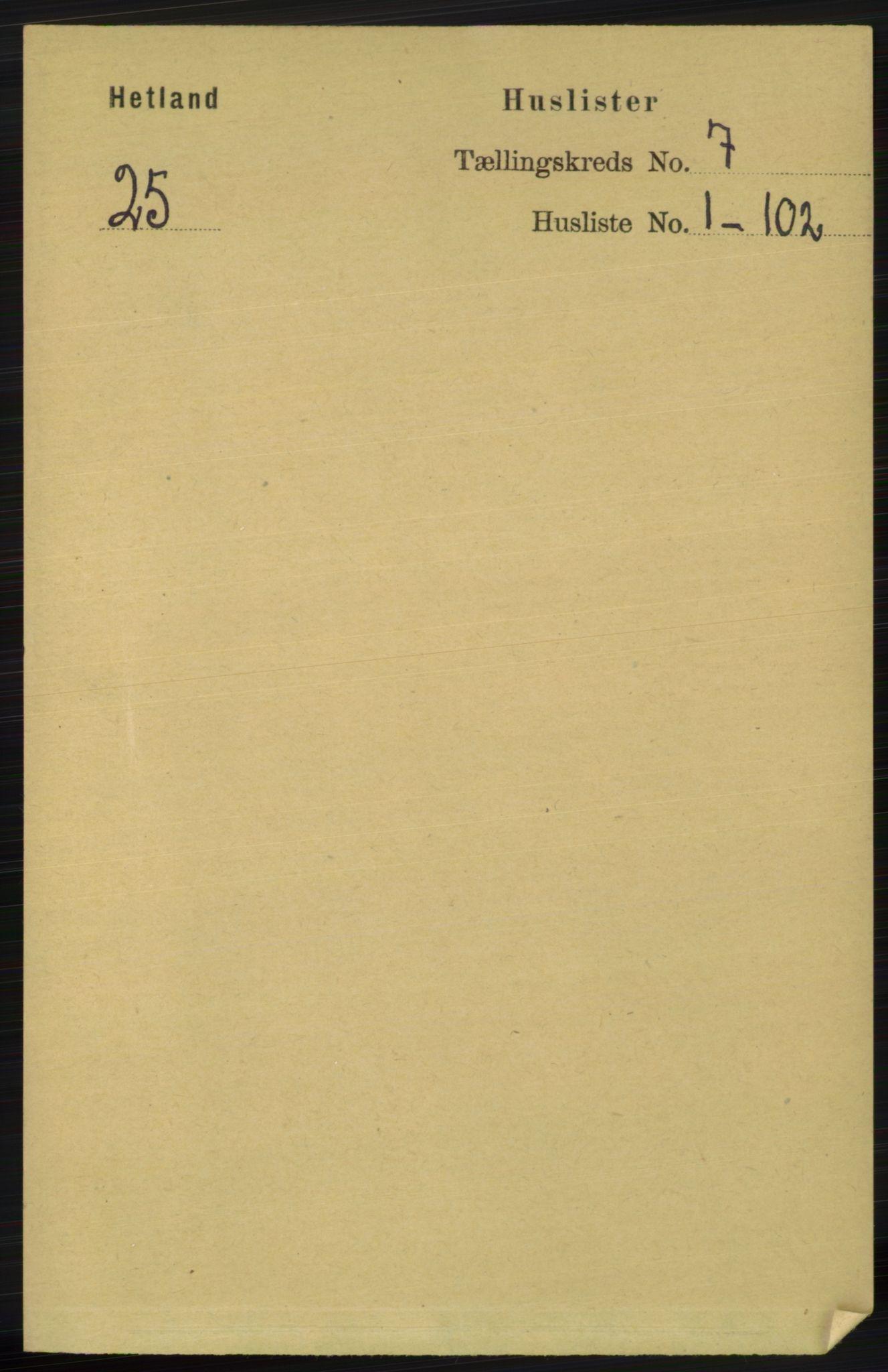 RA, Folketelling 1891 for 1126 Hetland herred, 1891, s. 3670