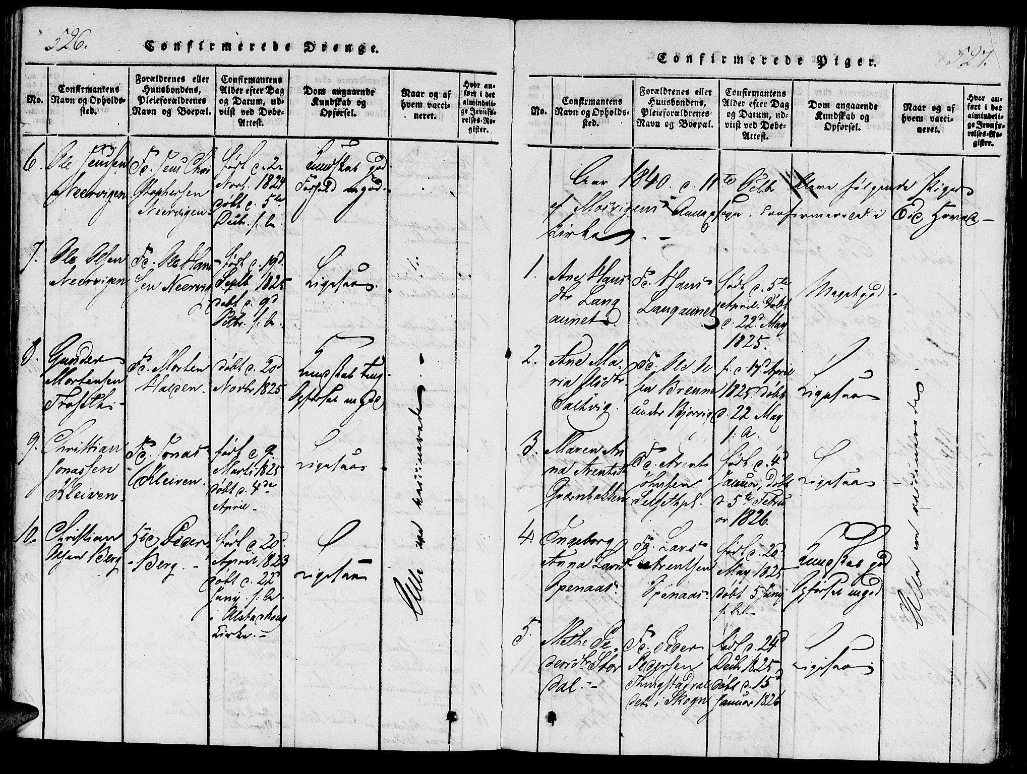 SAT, Ministerialprotokoller, klokkerbøker og fødselsregistre - Nord-Trøndelag, 733/L0322: Ministerialbok nr. 733A01, 1817-1842, s. 526-527