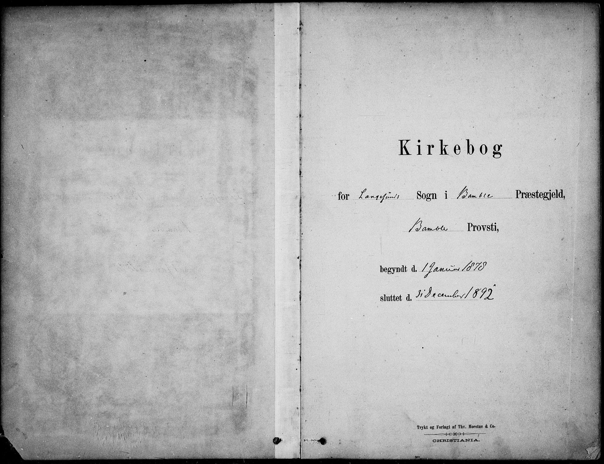 SAKO, Langesund kirkebøker, F/Fa/L0002: Ministerialbok nr. 2, 1878-1892
