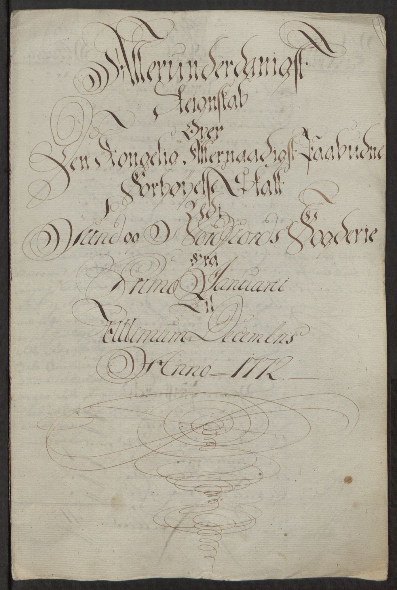 RA, Rentekammeret inntil 1814, Reviderte regnskaper, Fogderegnskap, R53/L3551: Ekstraskatten Sunn- og Nordfjord, 1772, s. 23
