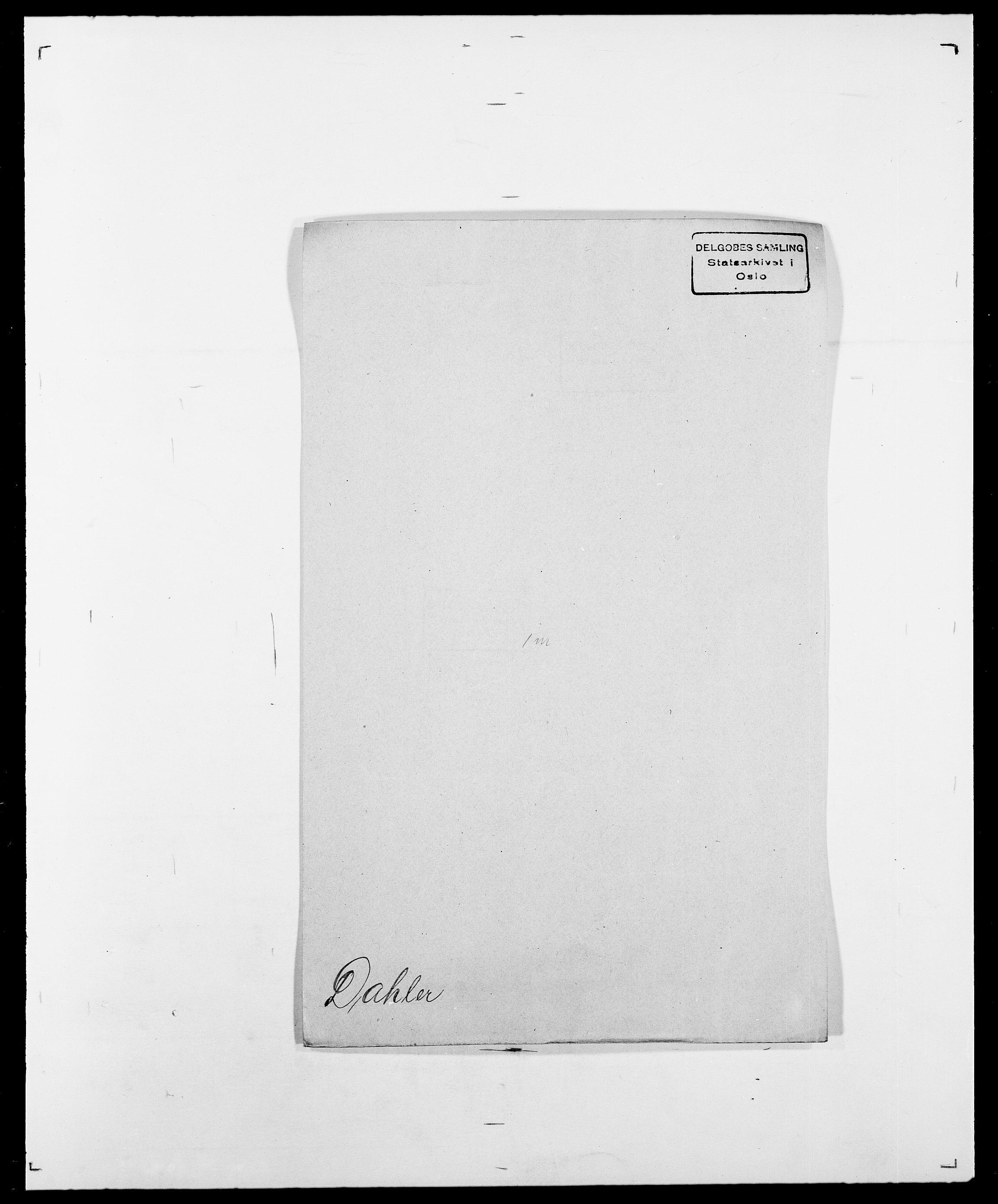 SAO, Delgobe, Charles Antoine - samling, D/Da/L0009: Dahl - v. Düren, s. 203