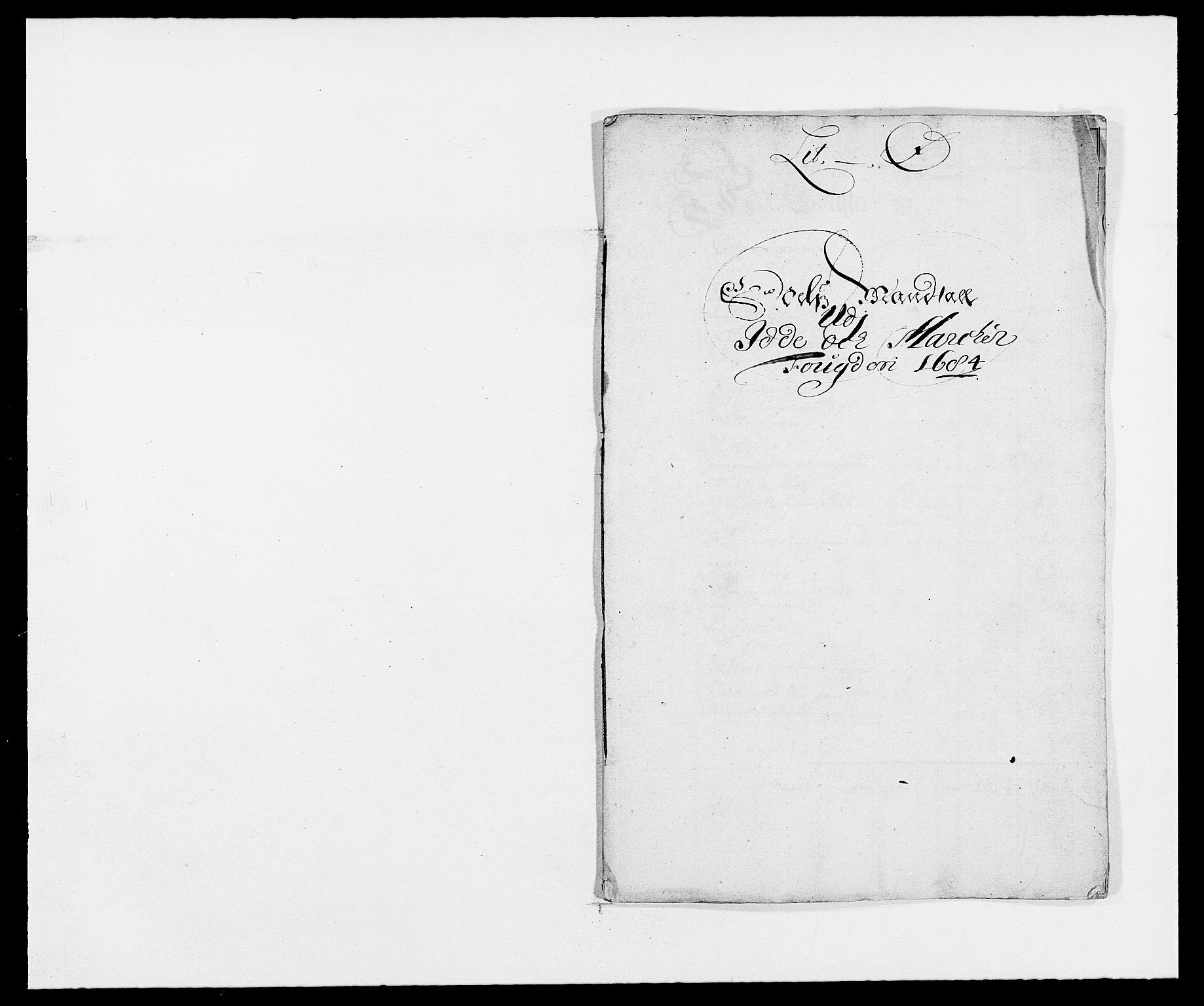 RA, Rentekammeret inntil 1814, Reviderte regnskaper, Fogderegnskap, R01/L0005: Fogderegnskap Idd og Marker , 1682-1684, s. 70