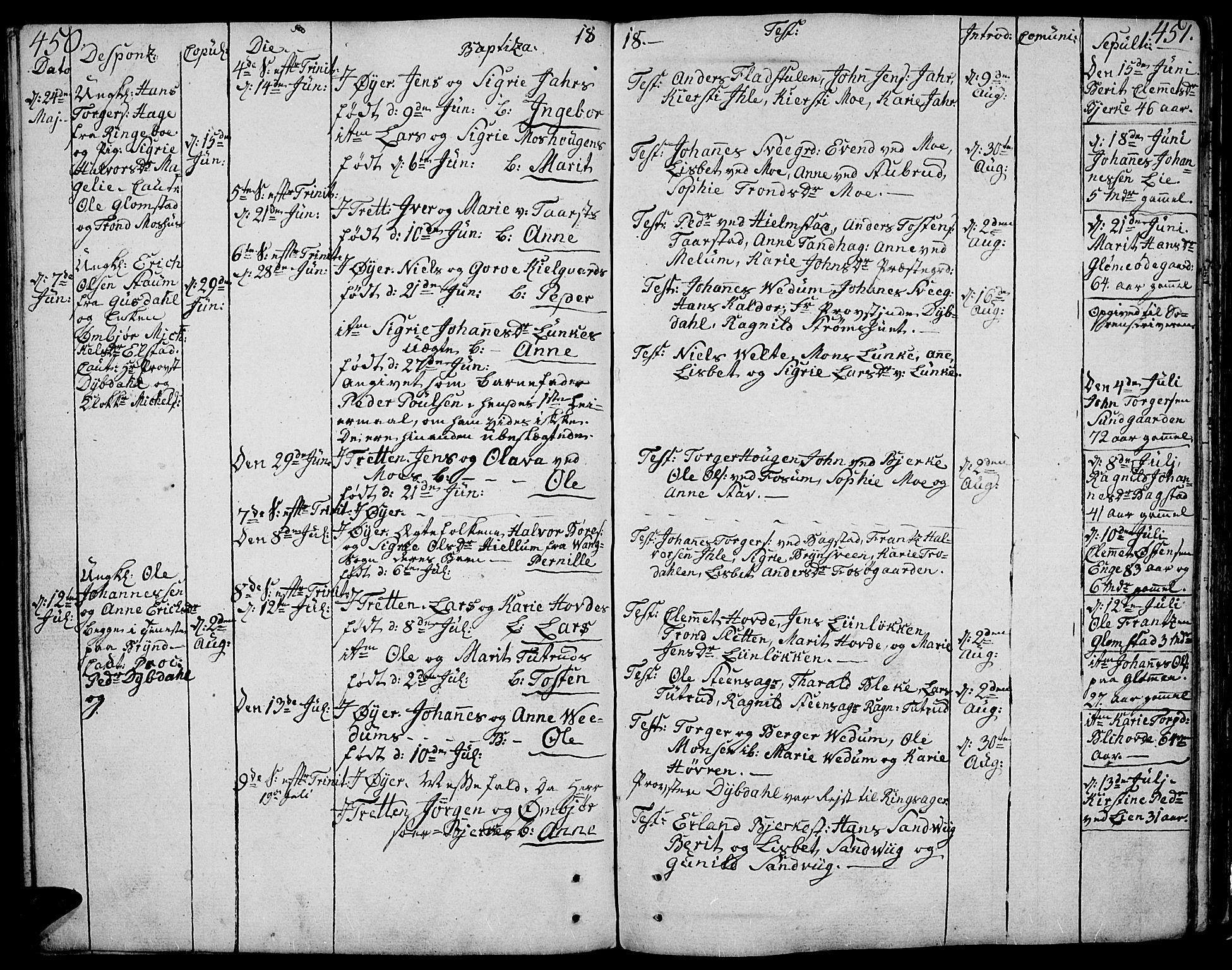 SAH, Øyer prestekontor, Ministerialbok nr. 3, 1784-1824, s. 450-451