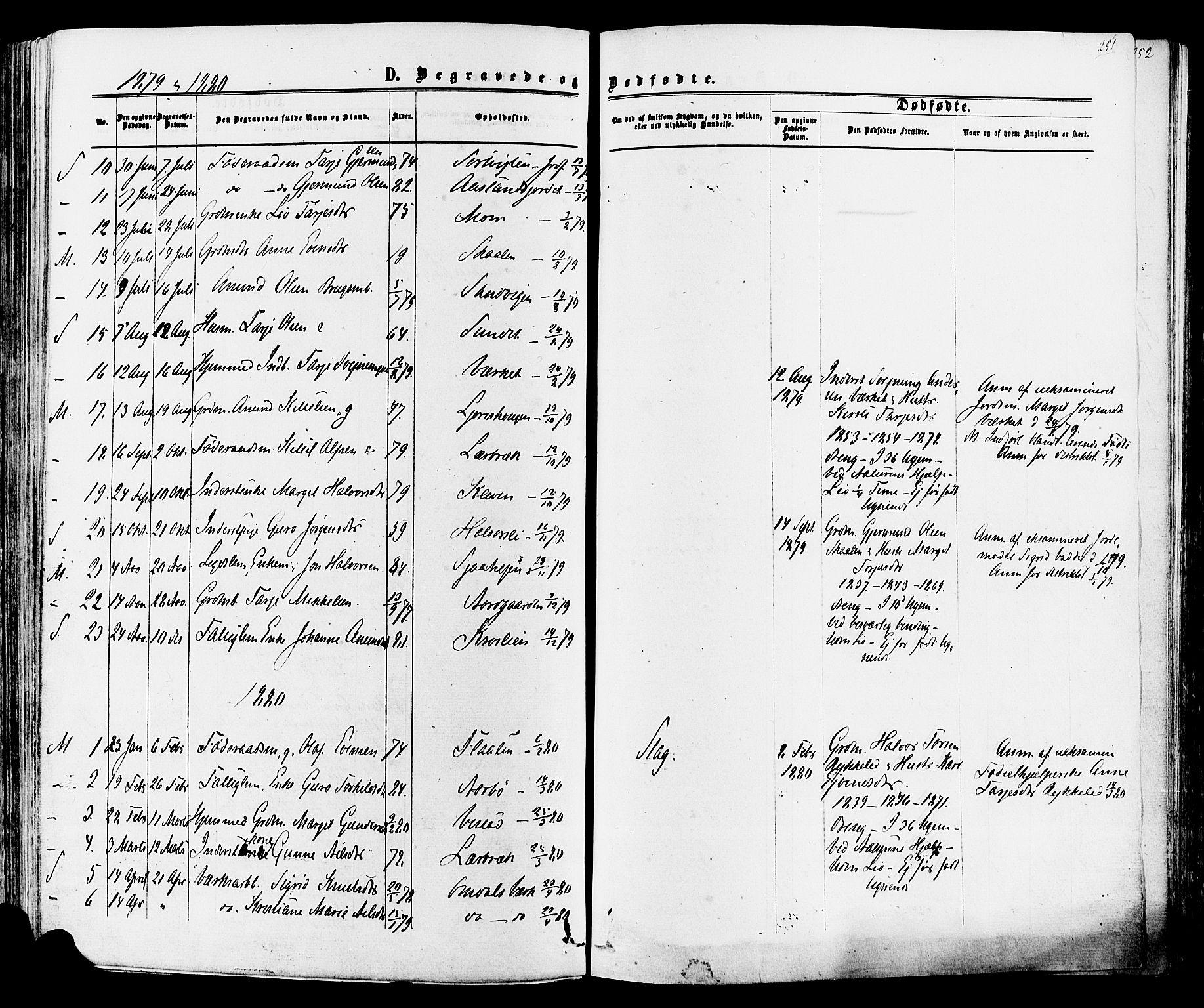 SAKO, Mo kirkebøker, F/Fa/L0006: Ministerialbok nr. I 6, 1865-1885, s. 251