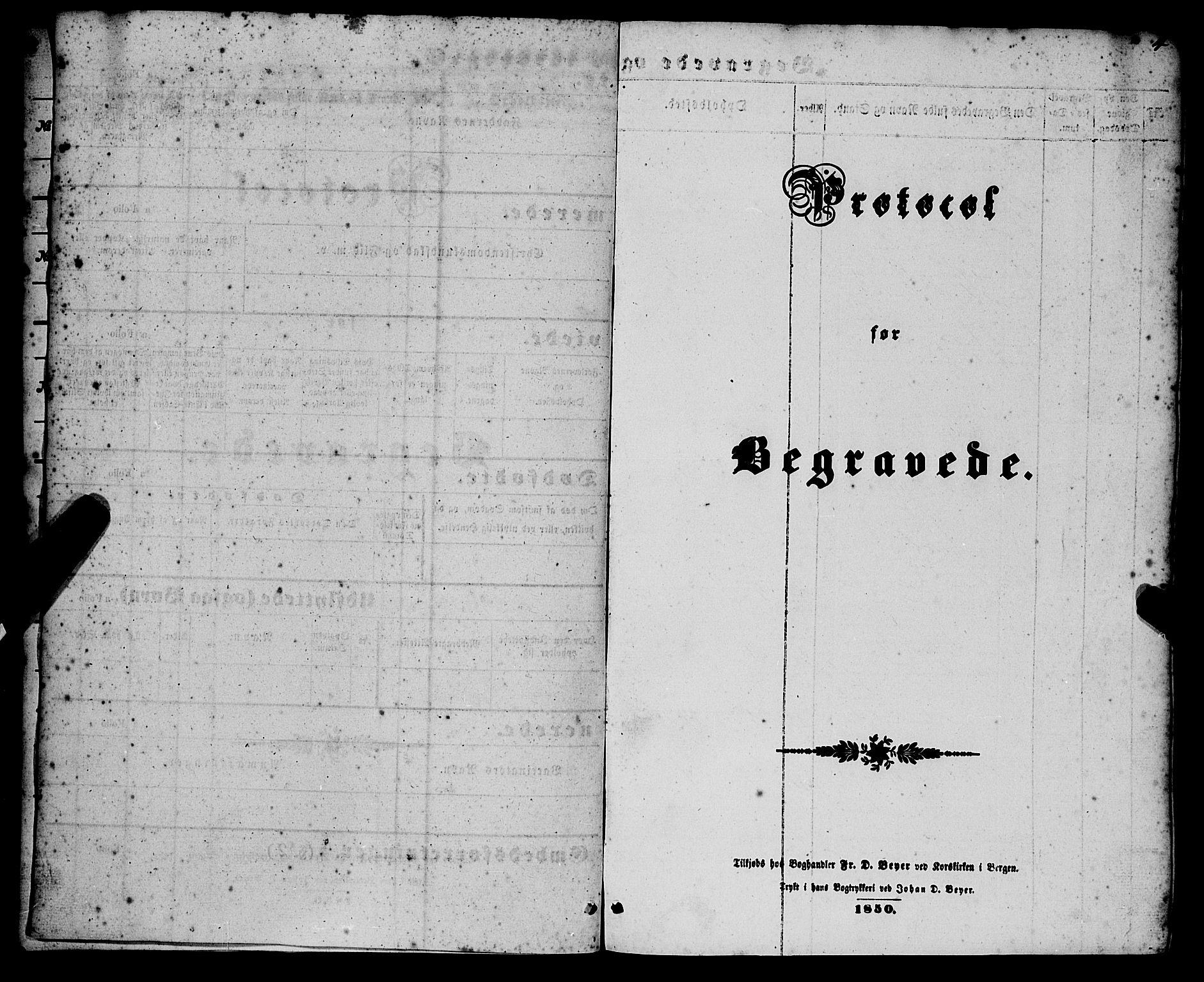 SAB, Nykirken Sokneprestembete, H/Haa/L0042: Ministerialbok nr. E 2, 1850-1868, s. 4