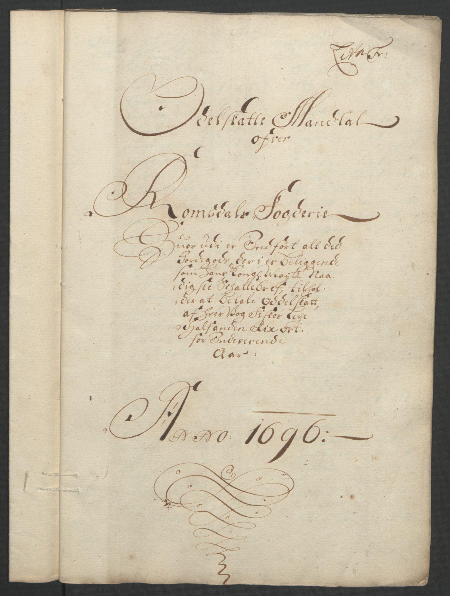 RA, Rentekammeret inntil 1814, Reviderte regnskaper, Fogderegnskap, R55/L3652: Fogderegnskap Romsdal, 1695-1696, s. 230