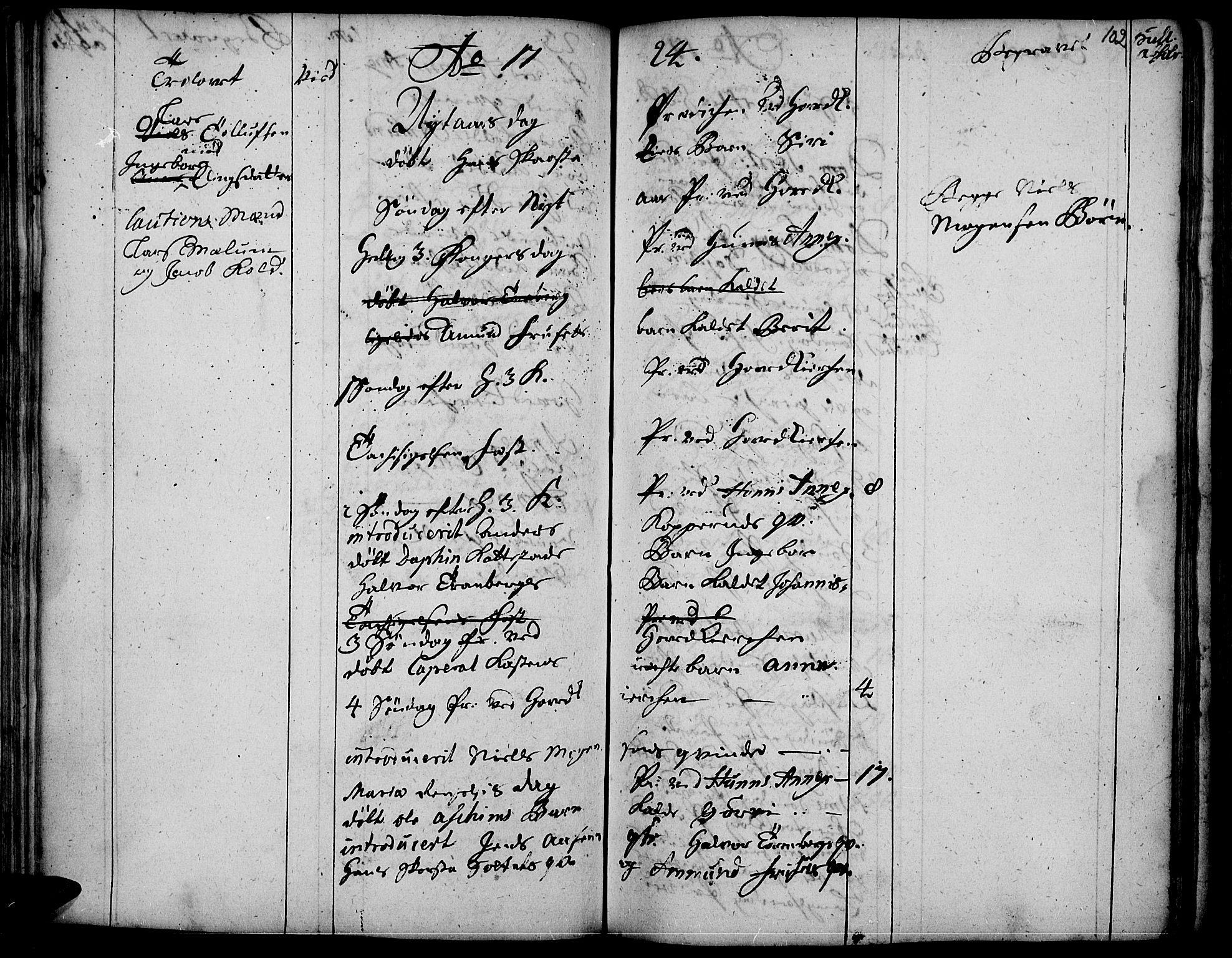 SAH, Vardal prestekontor, H/Ha/Haa/L0001: Ministerialbok nr. 1, 1706-1748, s. 102