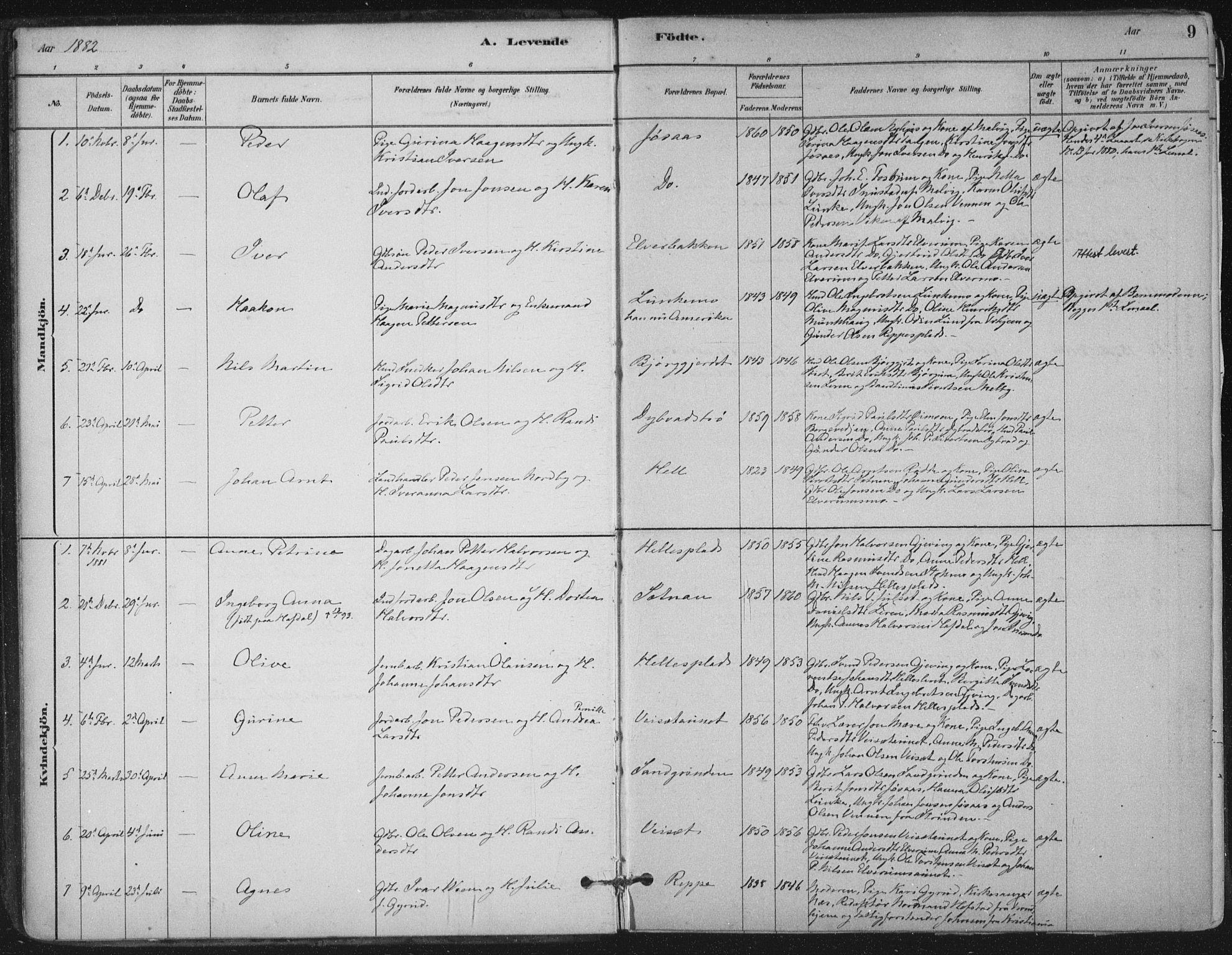 SAT, Ministerialprotokoller, klokkerbøker og fødselsregistre - Nord-Trøndelag, 710/L0095: Ministerialbok nr. 710A01, 1880-1914, s. 9