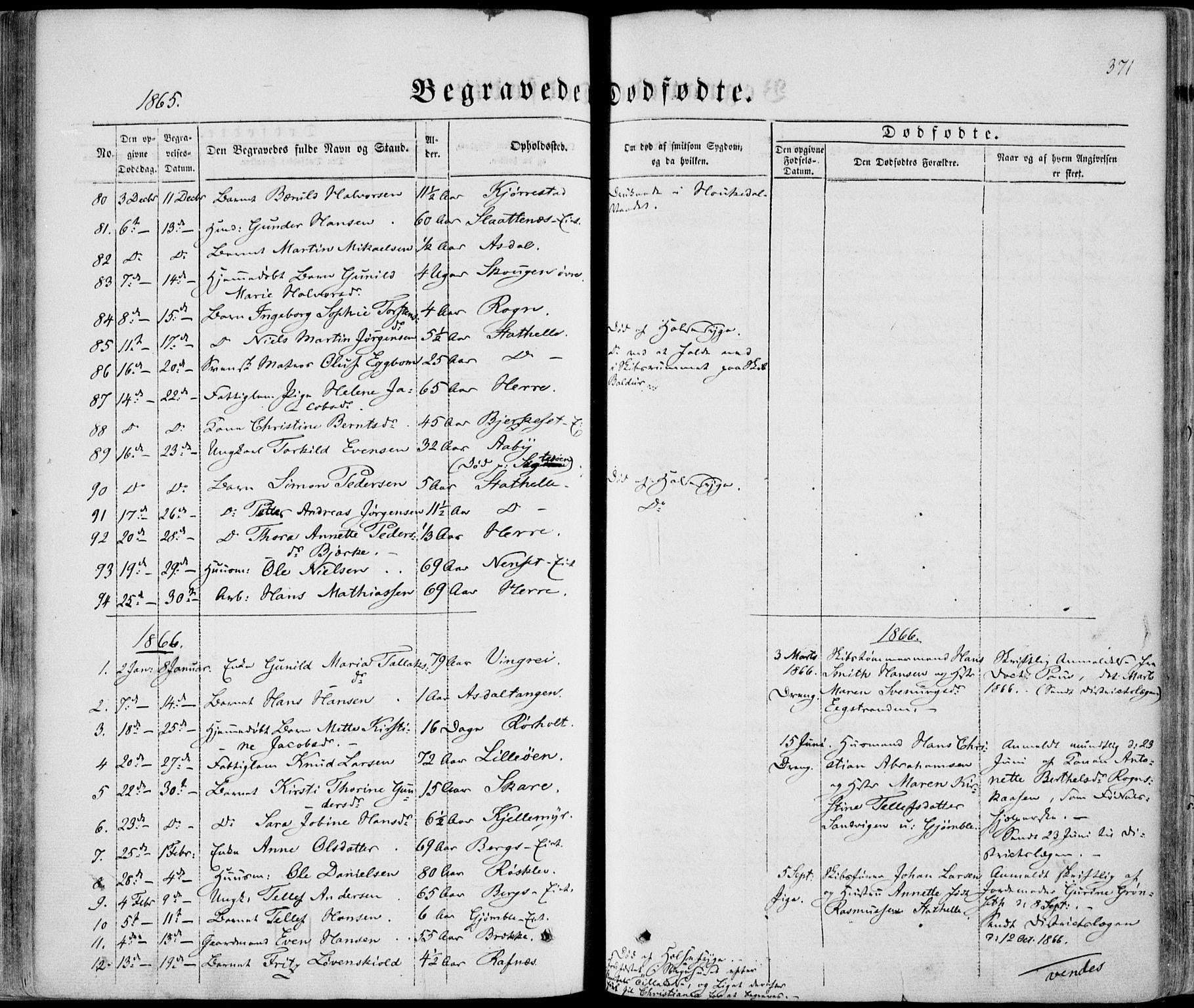 SAKO, Bamble kirkebøker, F/Fa/L0005: Ministerialbok nr. I 5, 1854-1869, s. 371