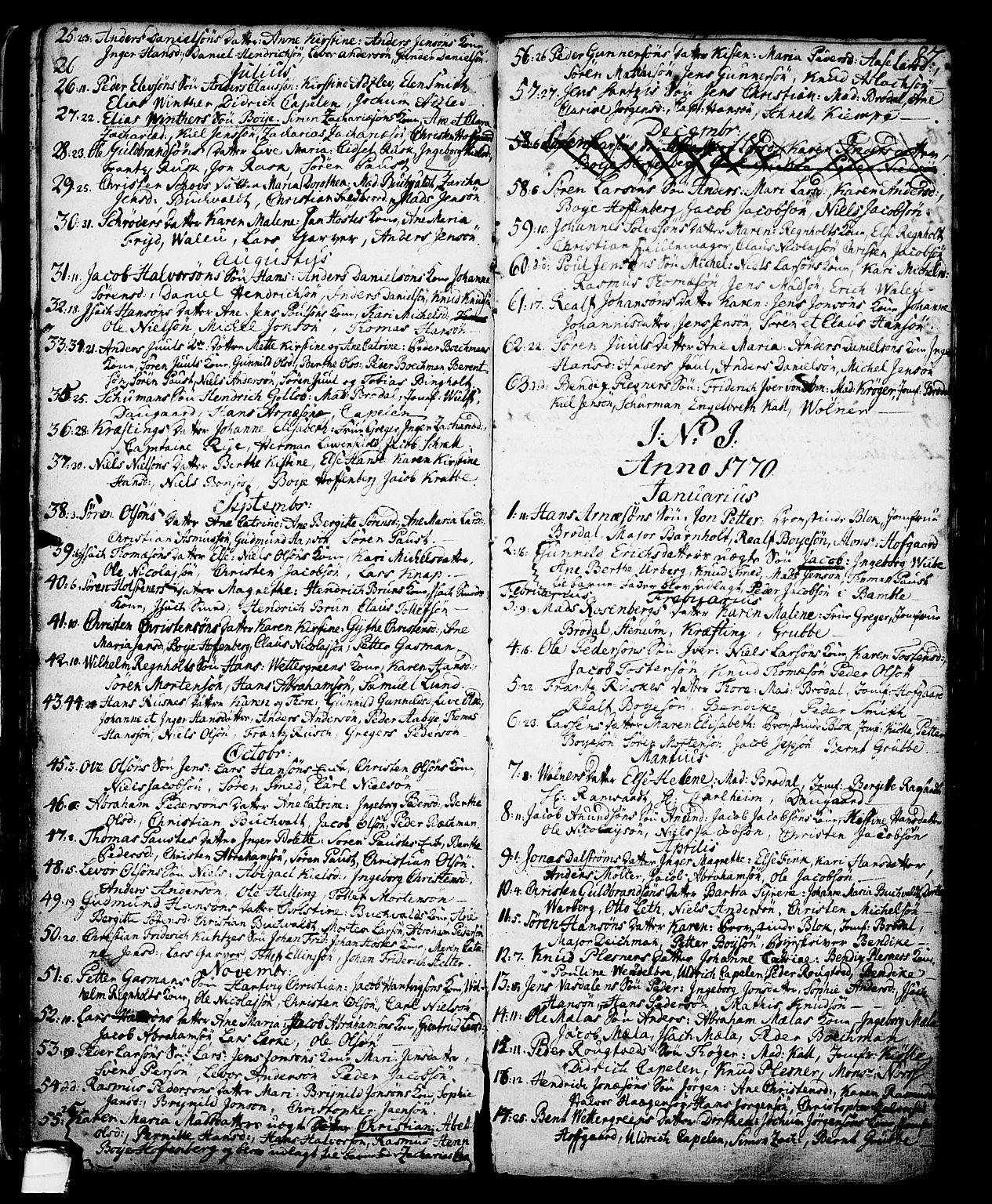 SAKO, Skien kirkebøker, G/Ga/L0001: Klokkerbok nr. 1, 1756-1791, s. 87