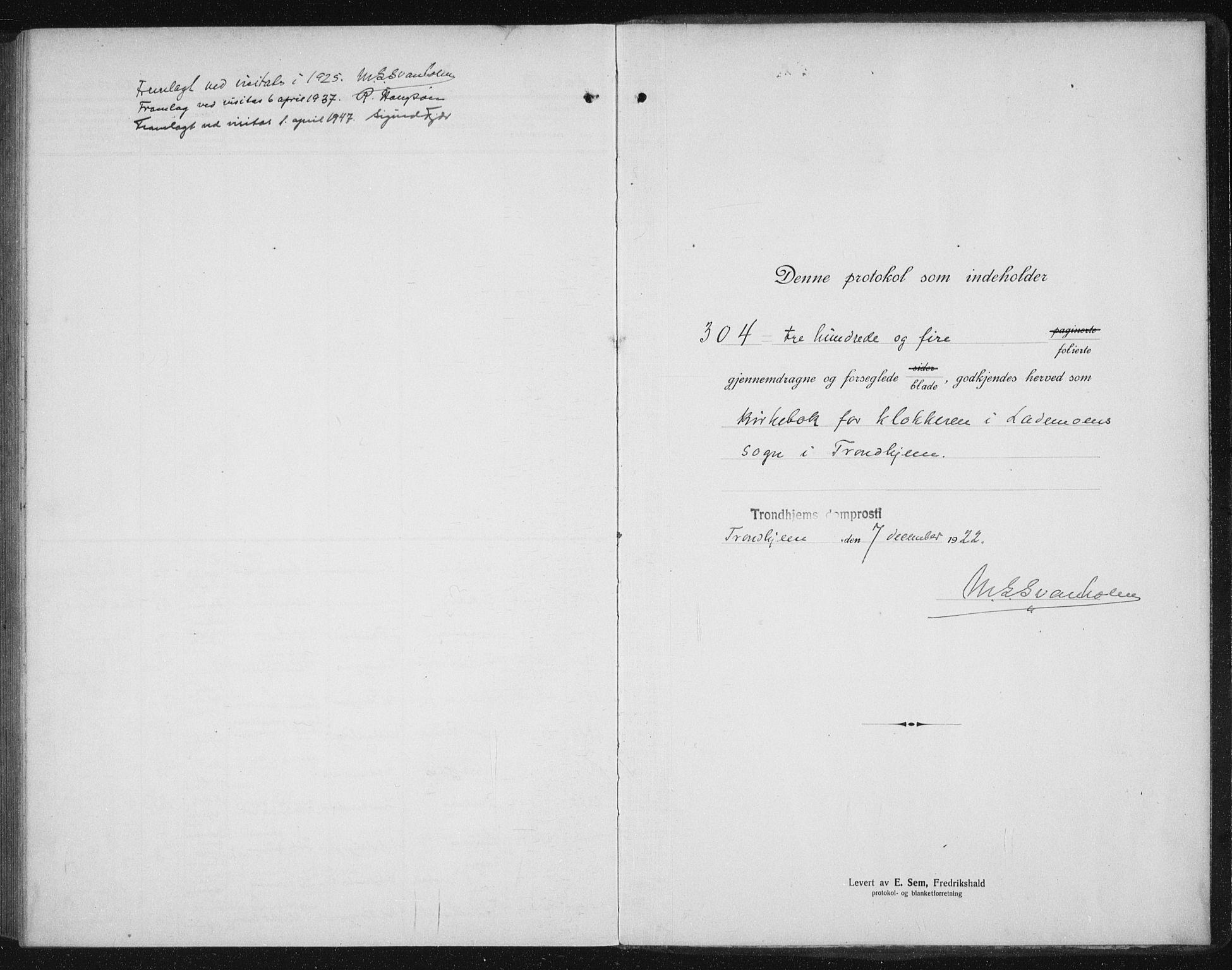 SAT, Ministerialprotokoller, klokkerbøker og fødselsregistre - Sør-Trøndelag, 605/L0260: Klokkerbok nr. 605C07, 1922-1942