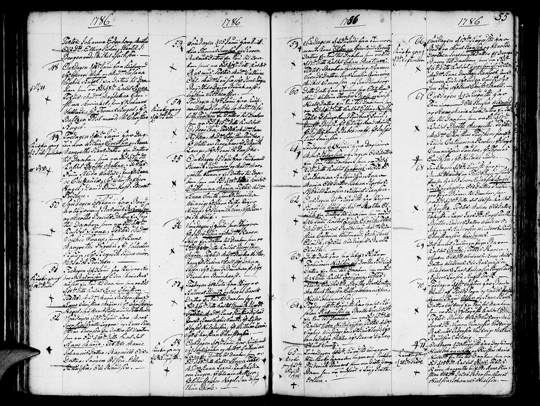SAB, Nykirken Sokneprestembete, H/Haa: Ministerialbok nr. A 5, 1775-1808, s. 55