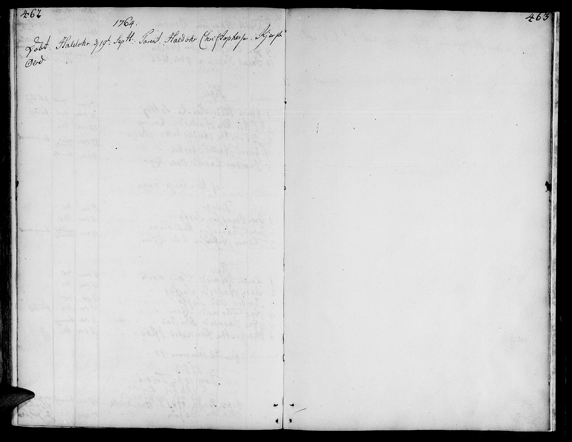 SAT, Ministerialprotokoller, klokkerbøker og fødselsregistre - Nord-Trøndelag, 735/L0330: Ministerialbok nr. 735A01, 1740-1766, s. 462-463
