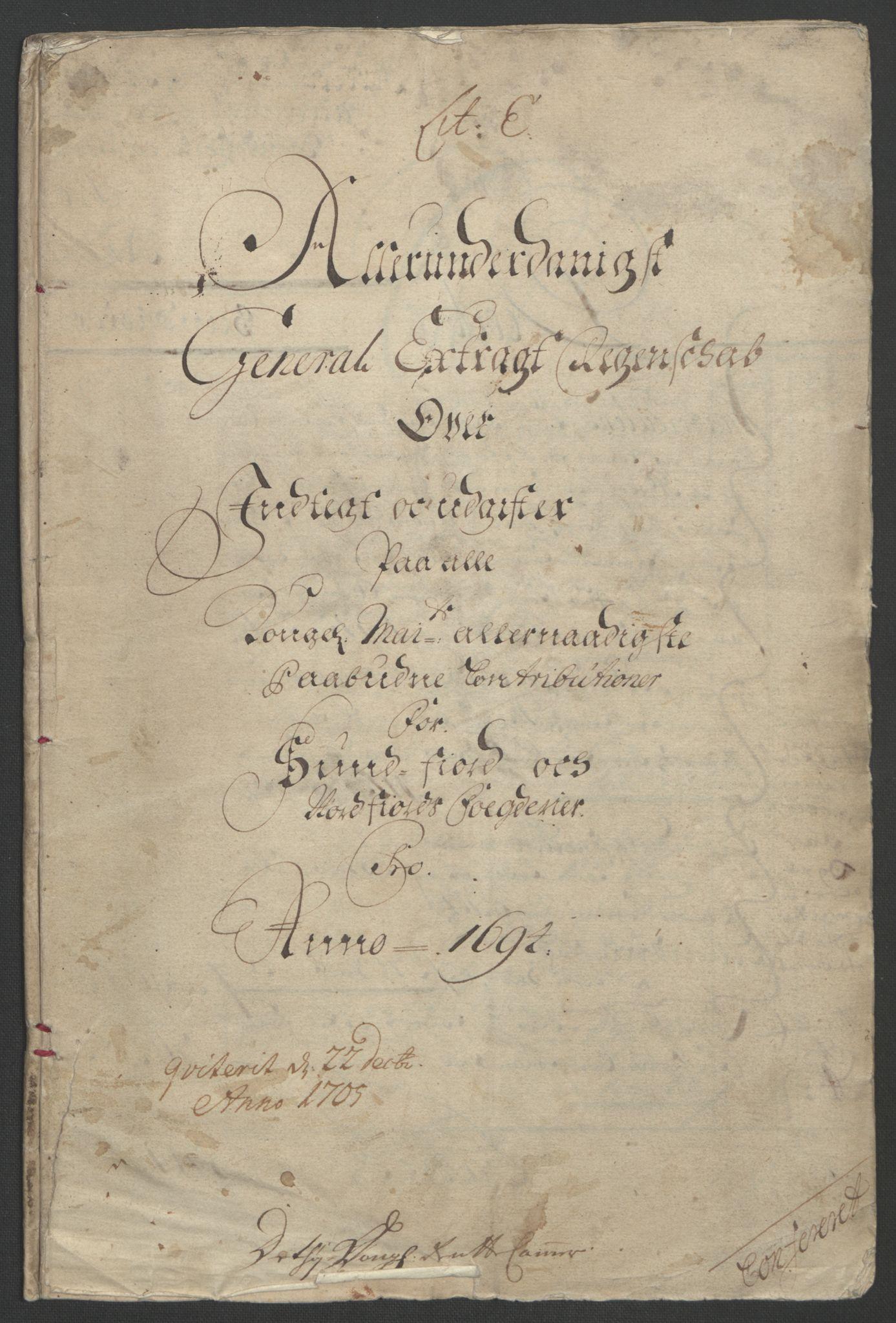 RA, Rentekammeret inntil 1814, Reviderte regnskaper, Fogderegnskap, R53/L3421: Fogderegnskap Sunn- og Nordfjord, 1693-1694, s. 249